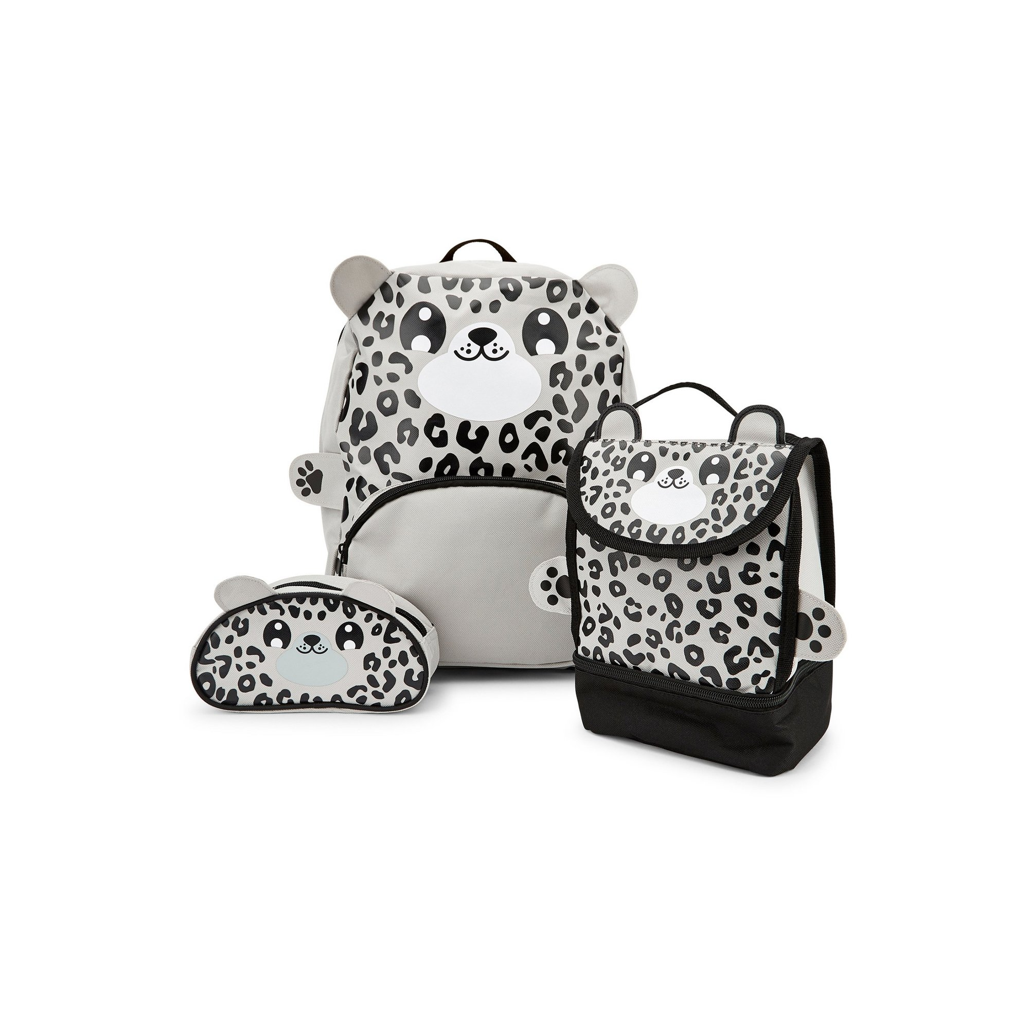 Image of Baby Animal Snow Leopard Backpack&#44 Lunchbag and Pencil Case Set