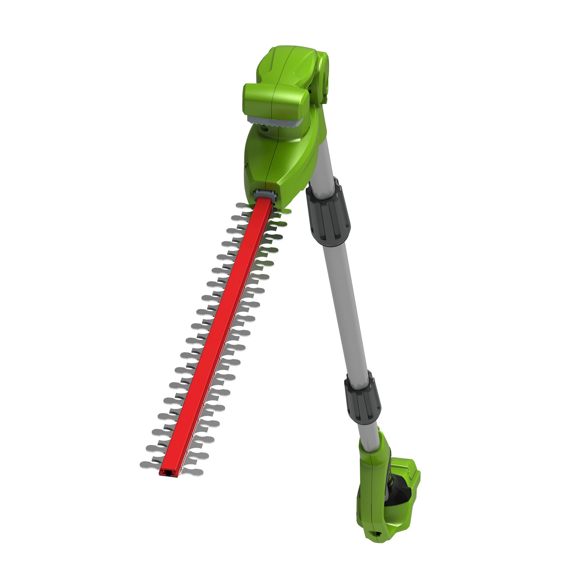 Image of Greenworks 51cm Long Reach Cordless Split Shaft Hedge Trimmer (To...
