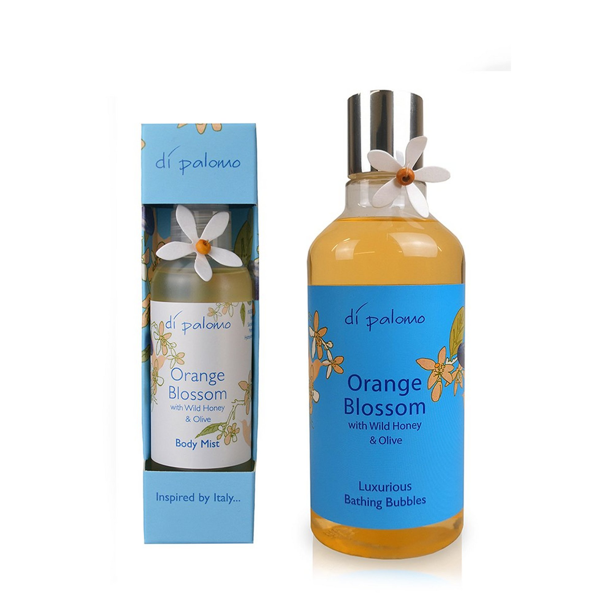 Image of Di Palomo Orange Blossom and Wild Honey Body Mist + Bath Set