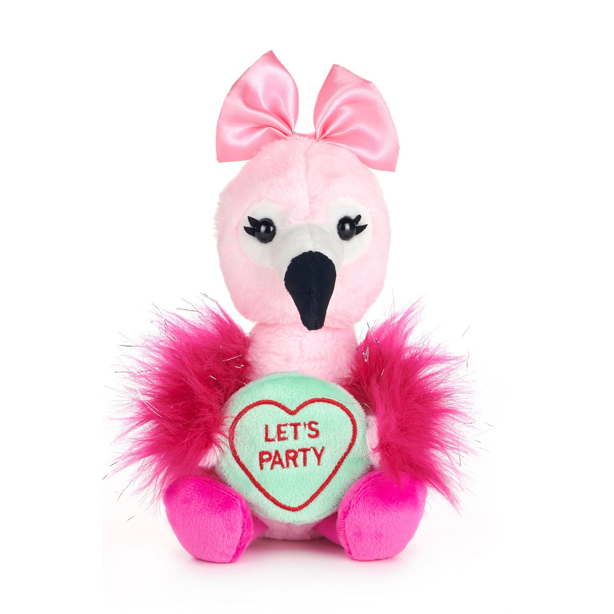 Image of Love Hearts - Flamingo Lets Party Soft Toy