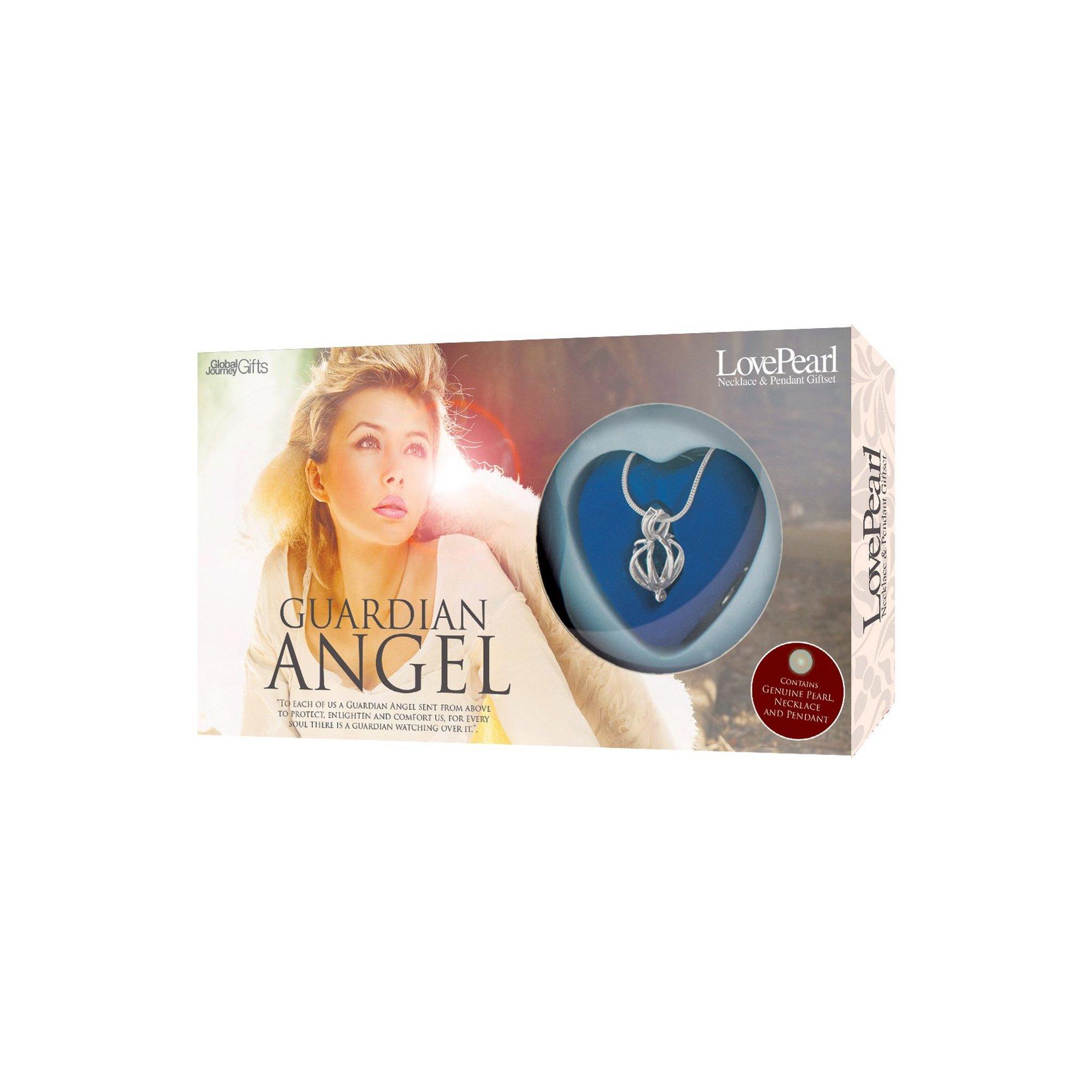 Image of Make a Wish Guardian Angel Pearl Pendant Gift Set