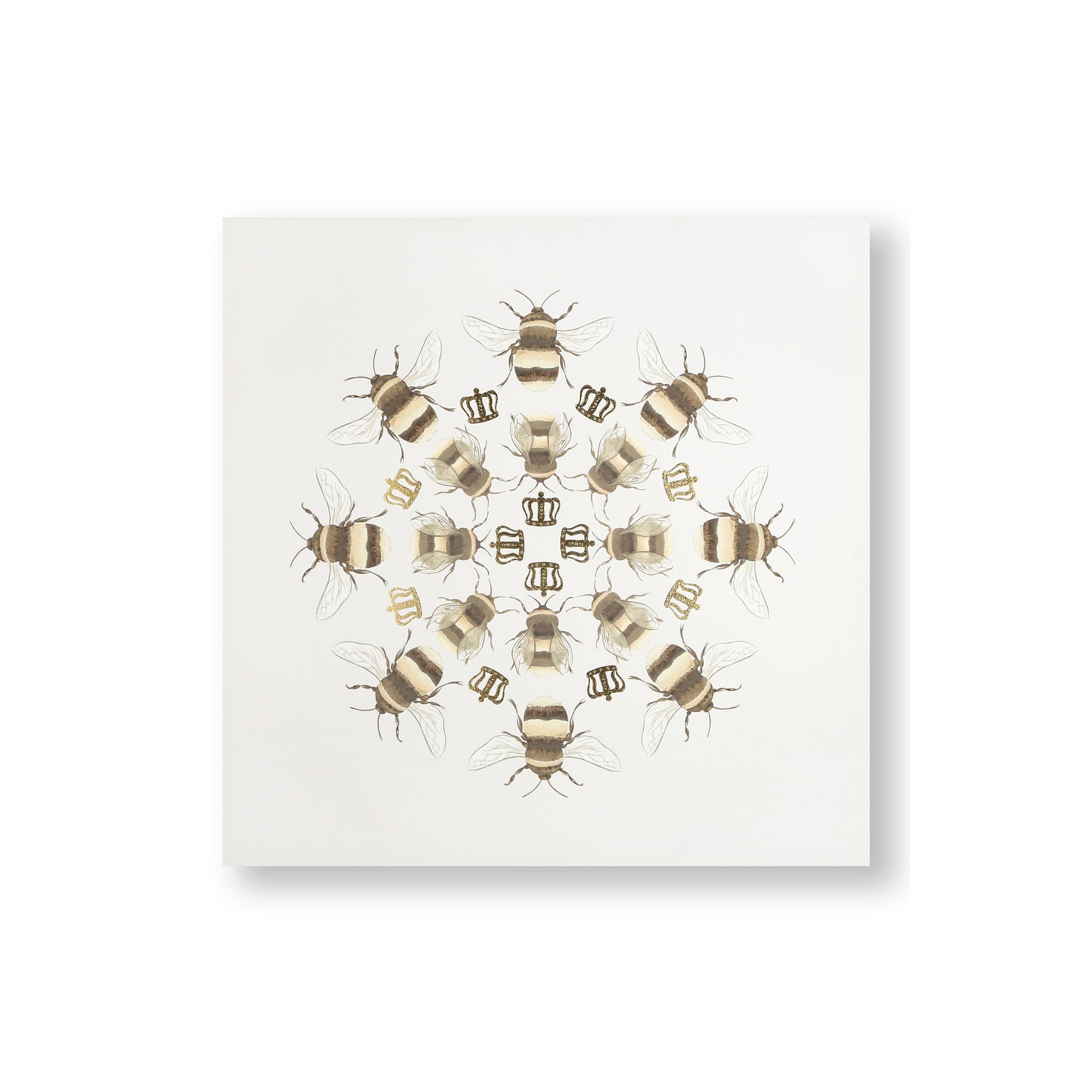 Image of Beautiful Bees Printed Canvas