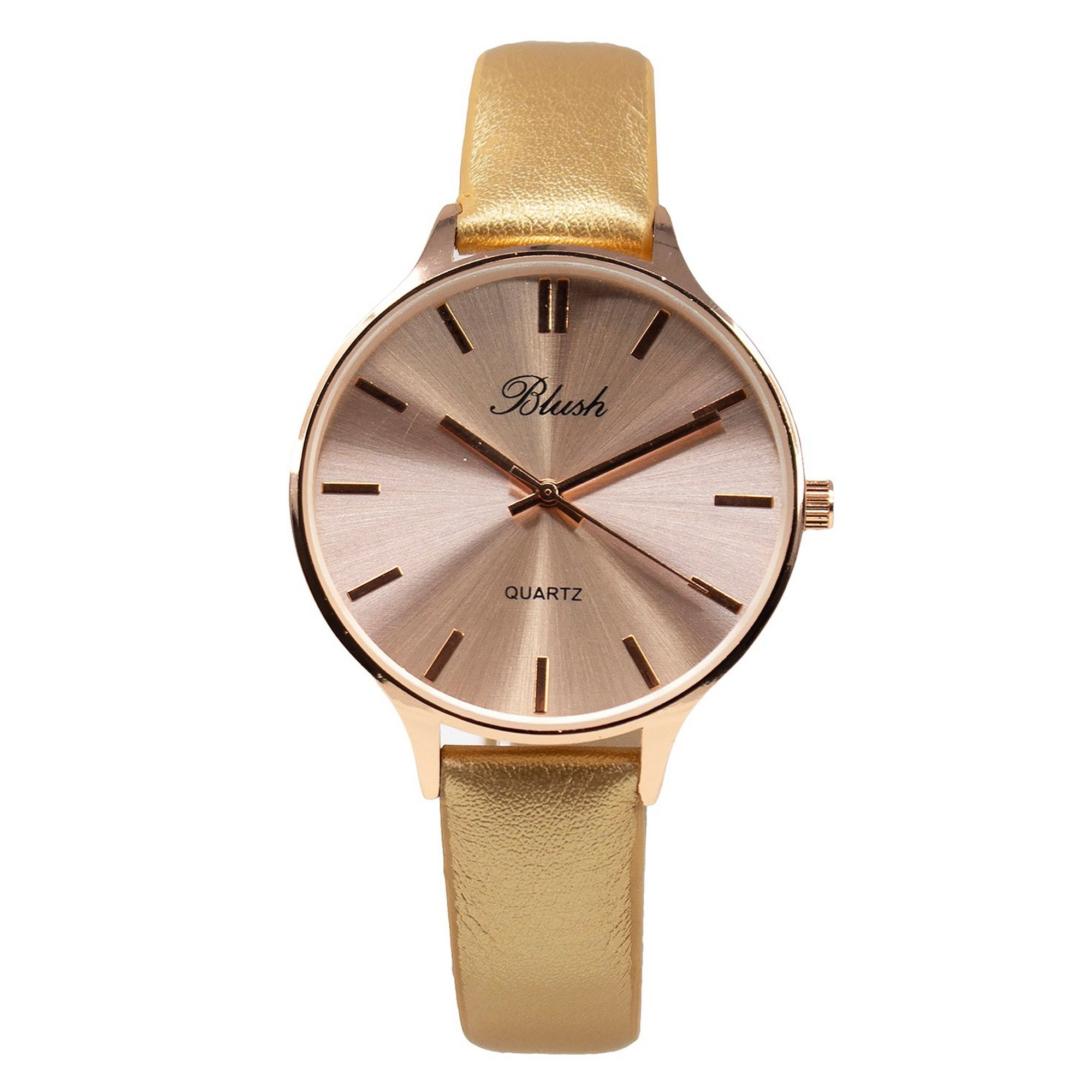Image of Ladies Blush Analogue Watch with Shiny Pink Strap