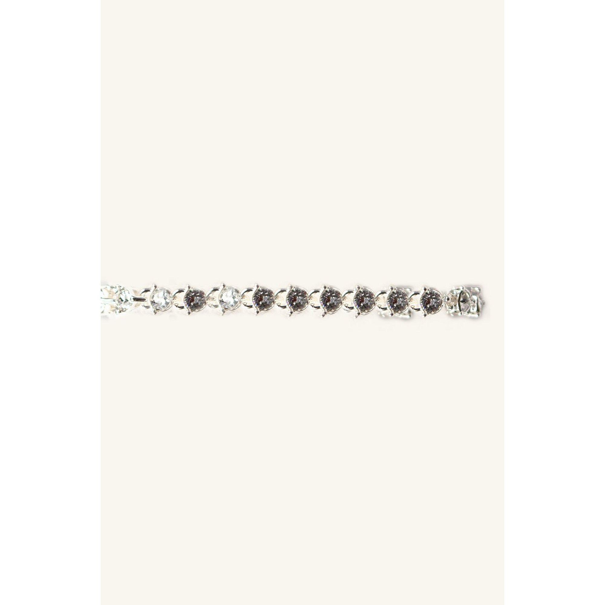 Image of Eternity Silver Bracelet with Swarovski Elements