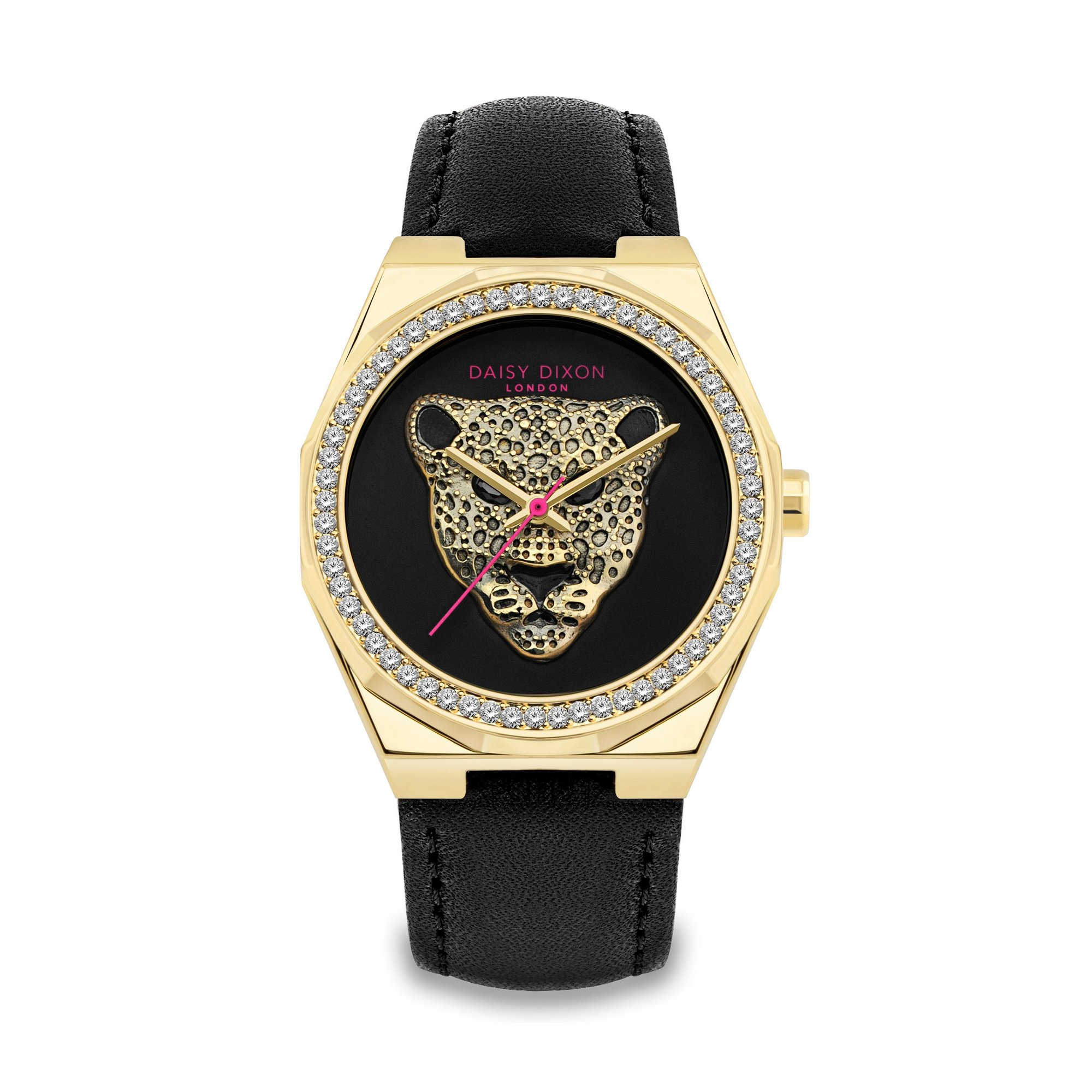 Image of Daisy Dixon Alessandra Black Strap Watch
