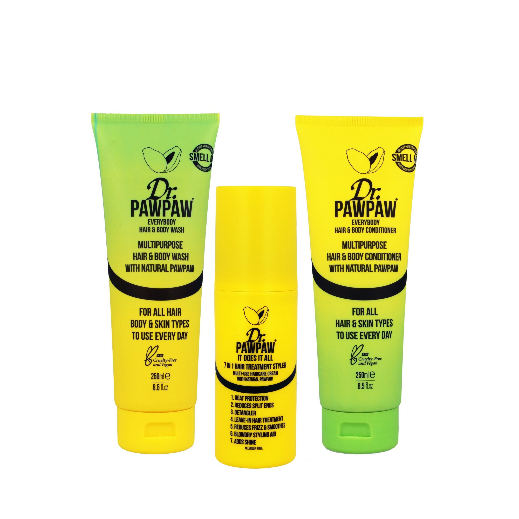 Image of Dr. PawPaw Haircare Trio Set
