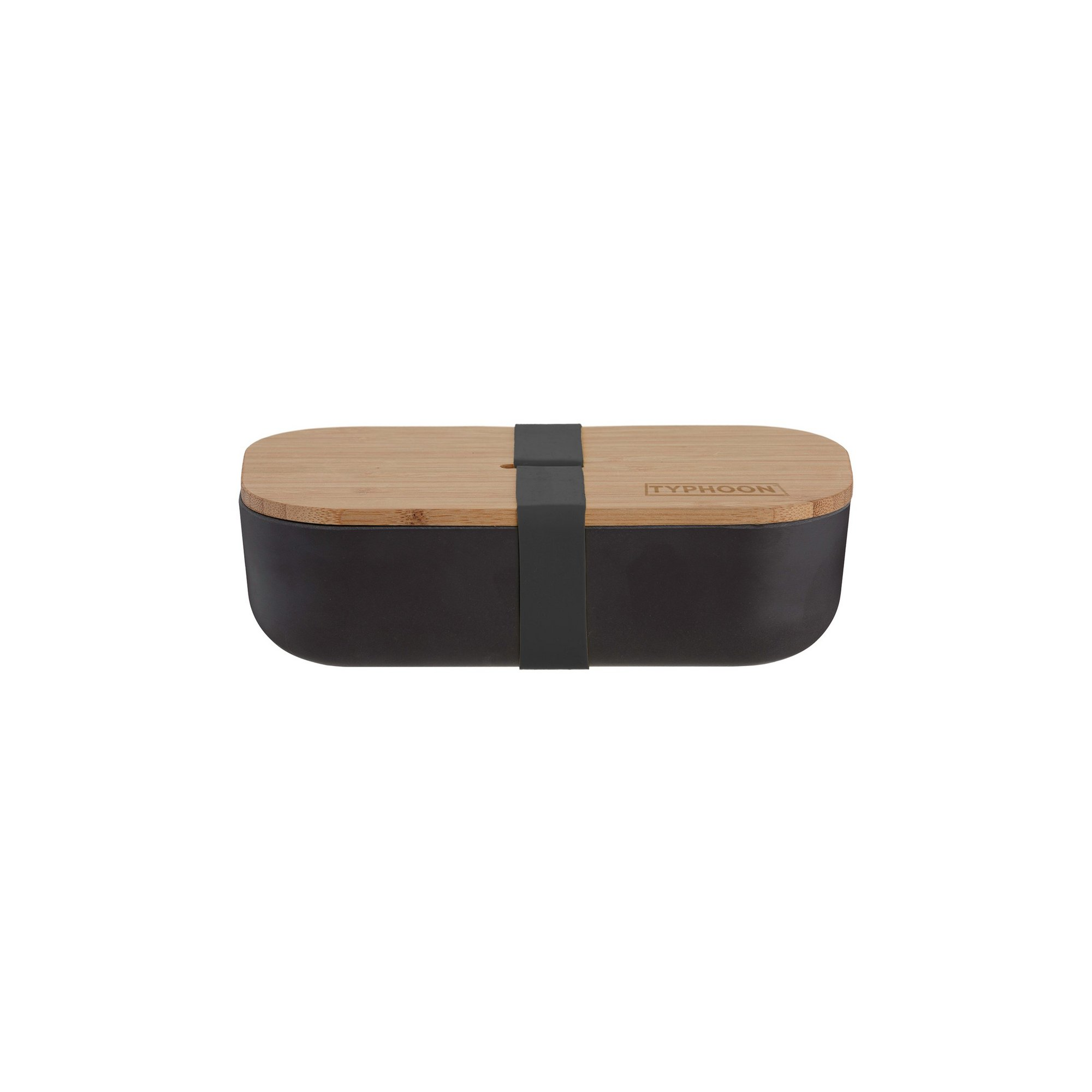 Image of Typhoon Pure Black Bamboo Fibre Lunch Box