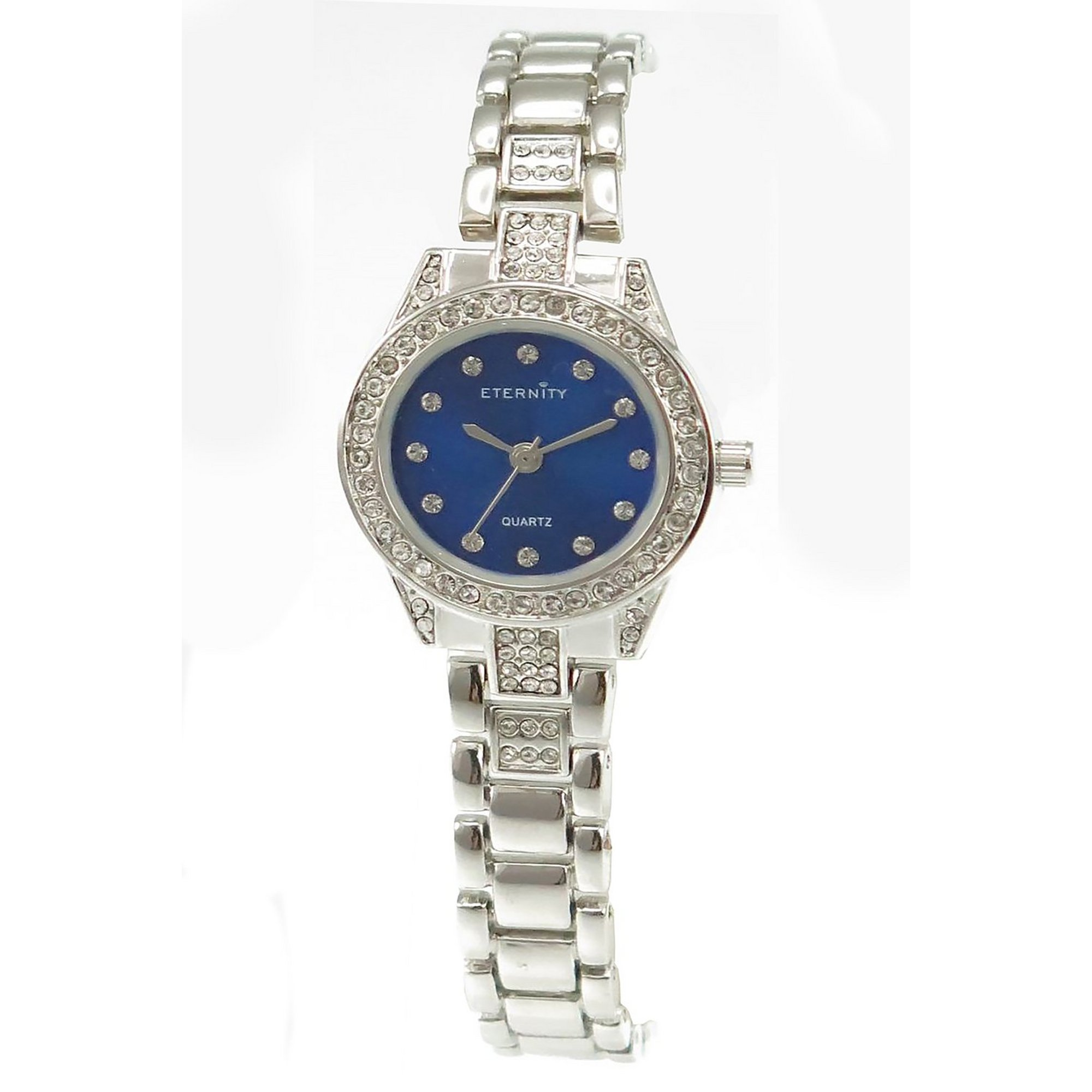 Image of Eternity Silver Analogue Watch with Blue Dial