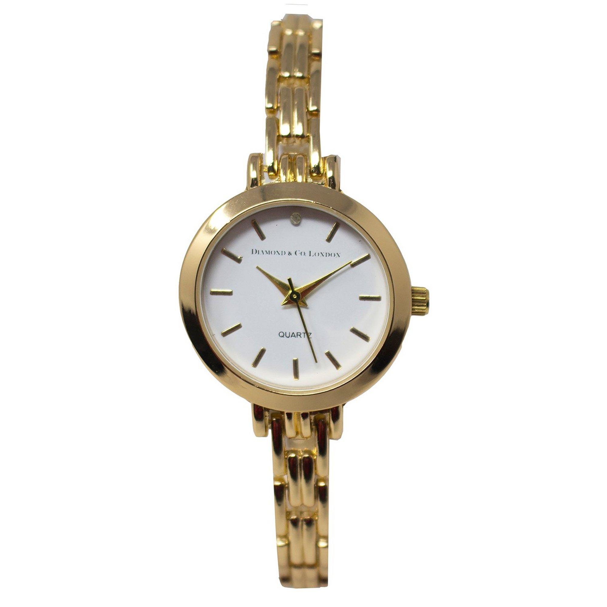 Image of Diamond and Co Gold Bracelet Analogue Watch