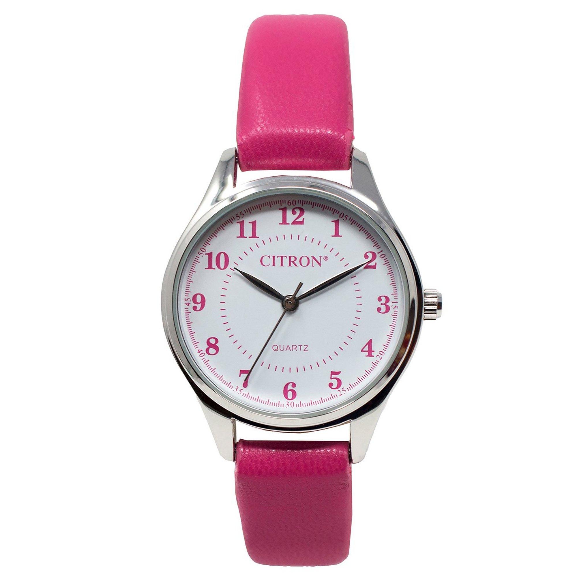 Image of Citron Pink Strap Analogue Watch