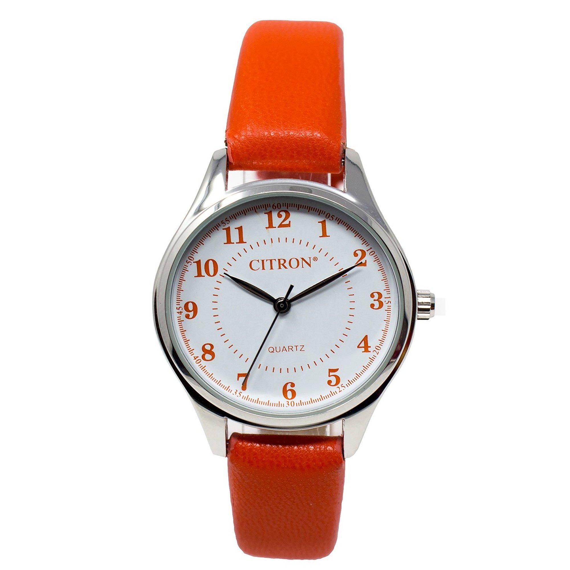 Image of Citron Orange Strap Analogue Watch