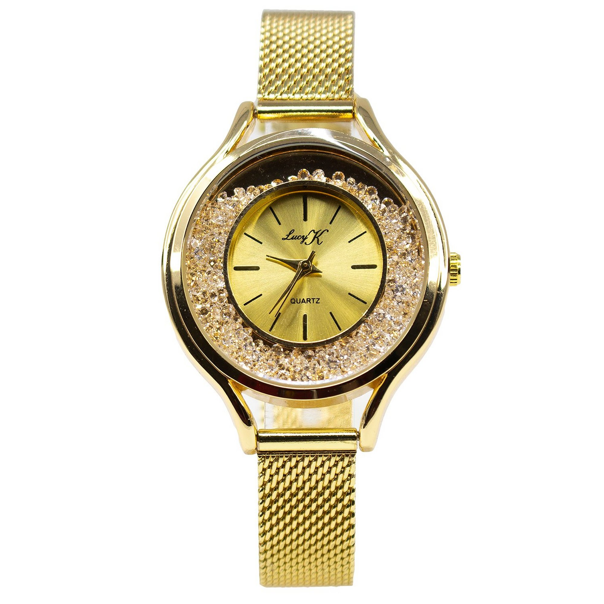 Image of Lucy K Gold Mesh Strap Analogue Watch