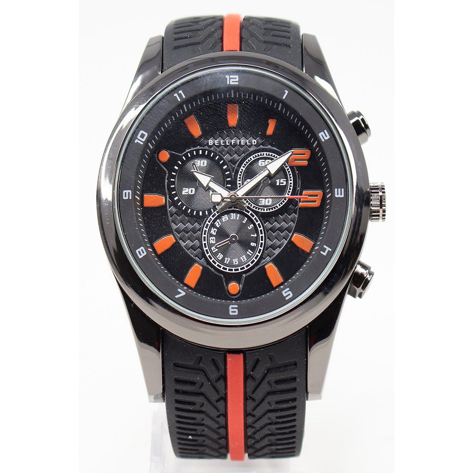 Image of Bellfield Black Strap Watch