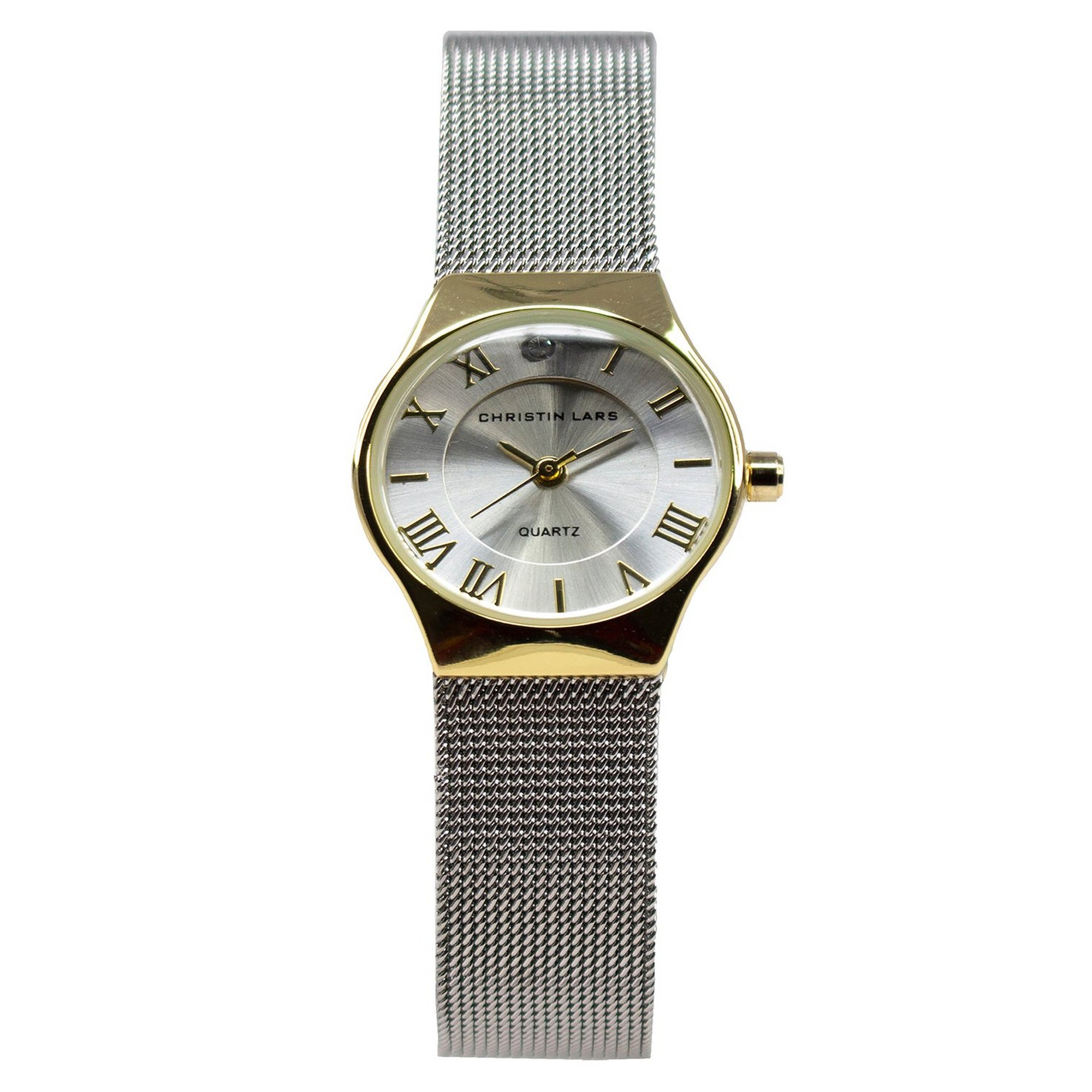 Image of Christin Lars Silver Mesh Strap Watch