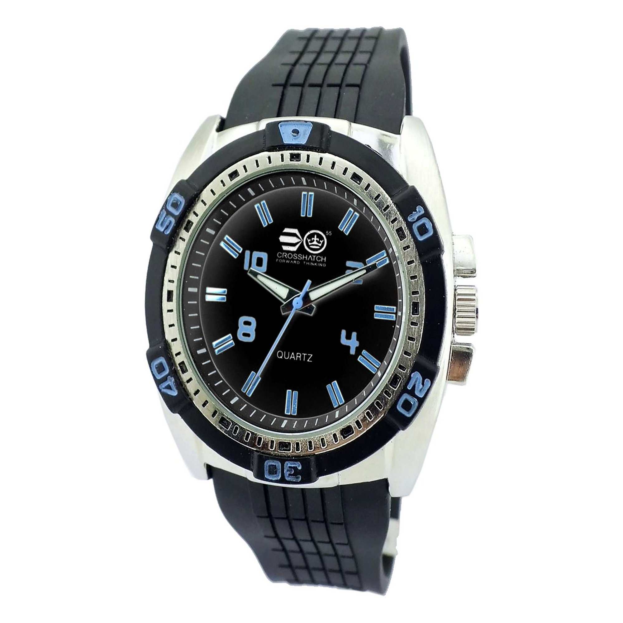 Image of Crosshatch Black and Silver Strap Watch