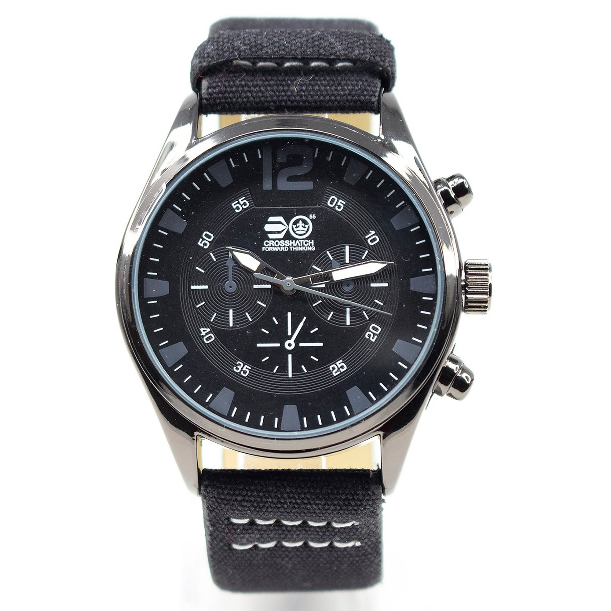 Image of Crosshatch Black and Grey Strap Watch