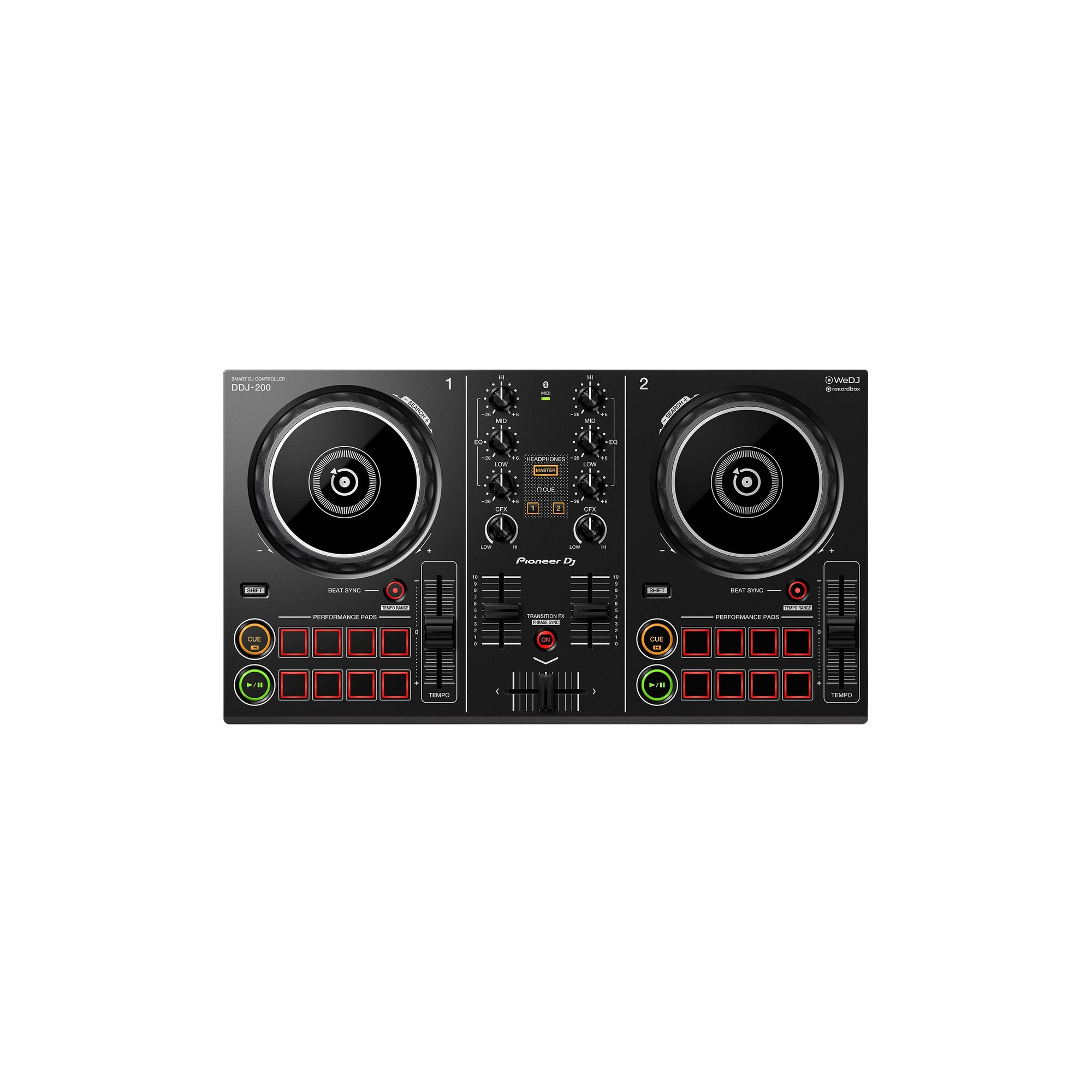 Image of Pioneer DDJ200 2 Channel DJ Rekordbox Controller