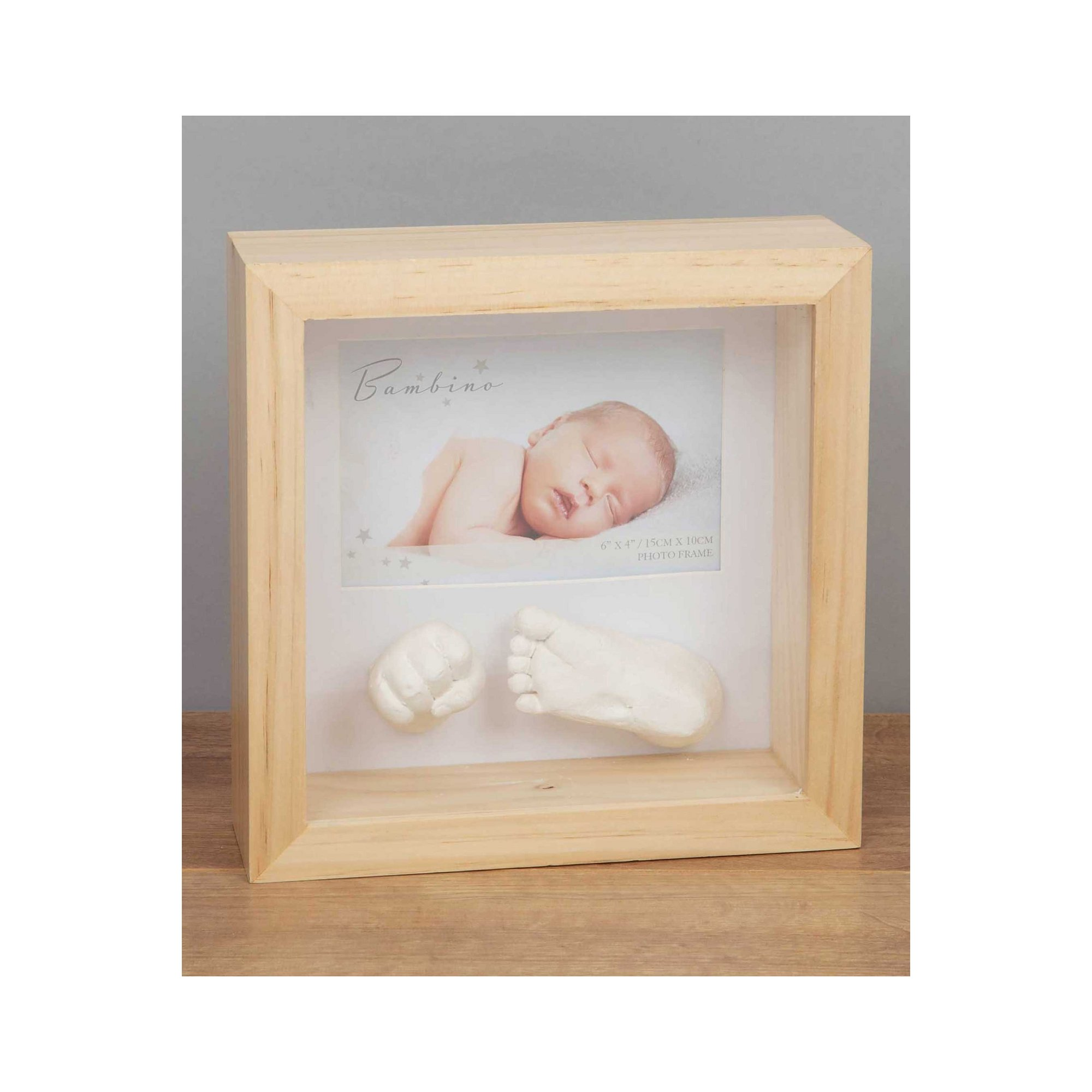 Image of 6 x 4 - Bambino Natural Photo Frame and Casting Kit