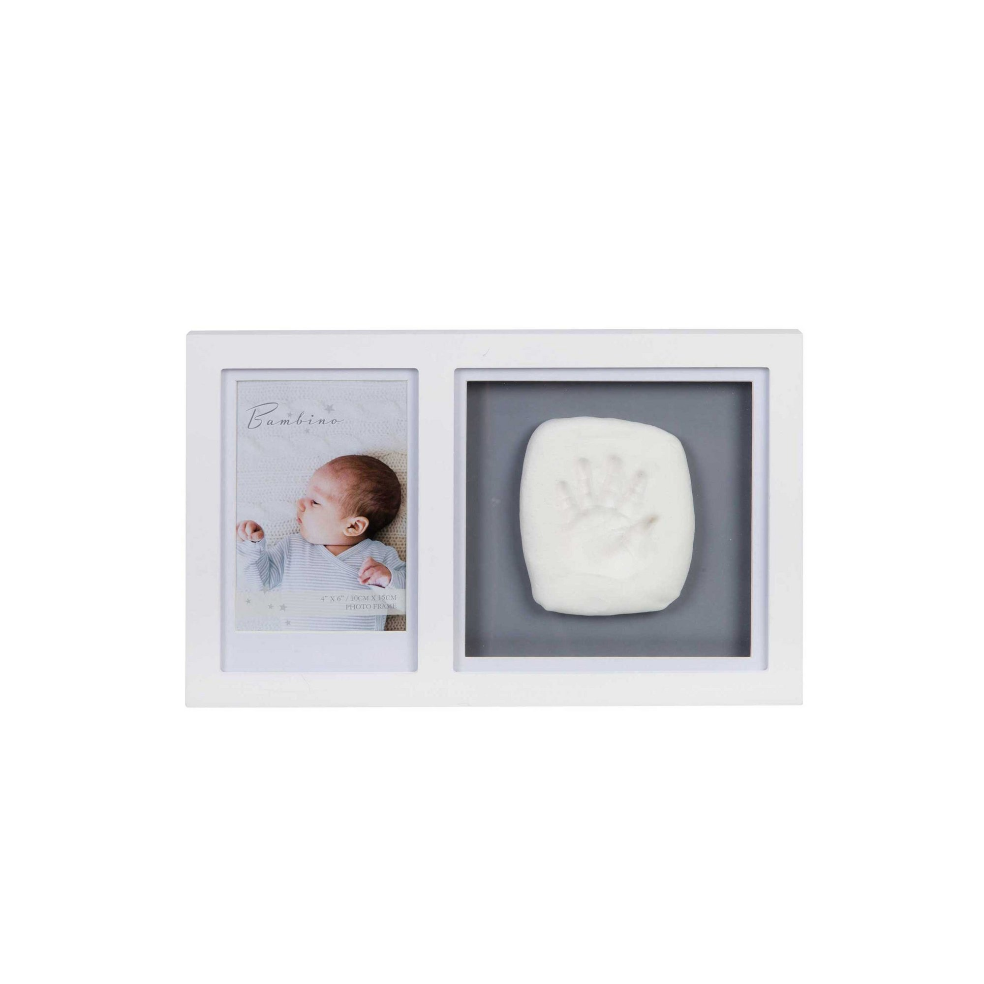 Image of 4 x 6 - Bambino White Photo Frame and Clay Print Kit