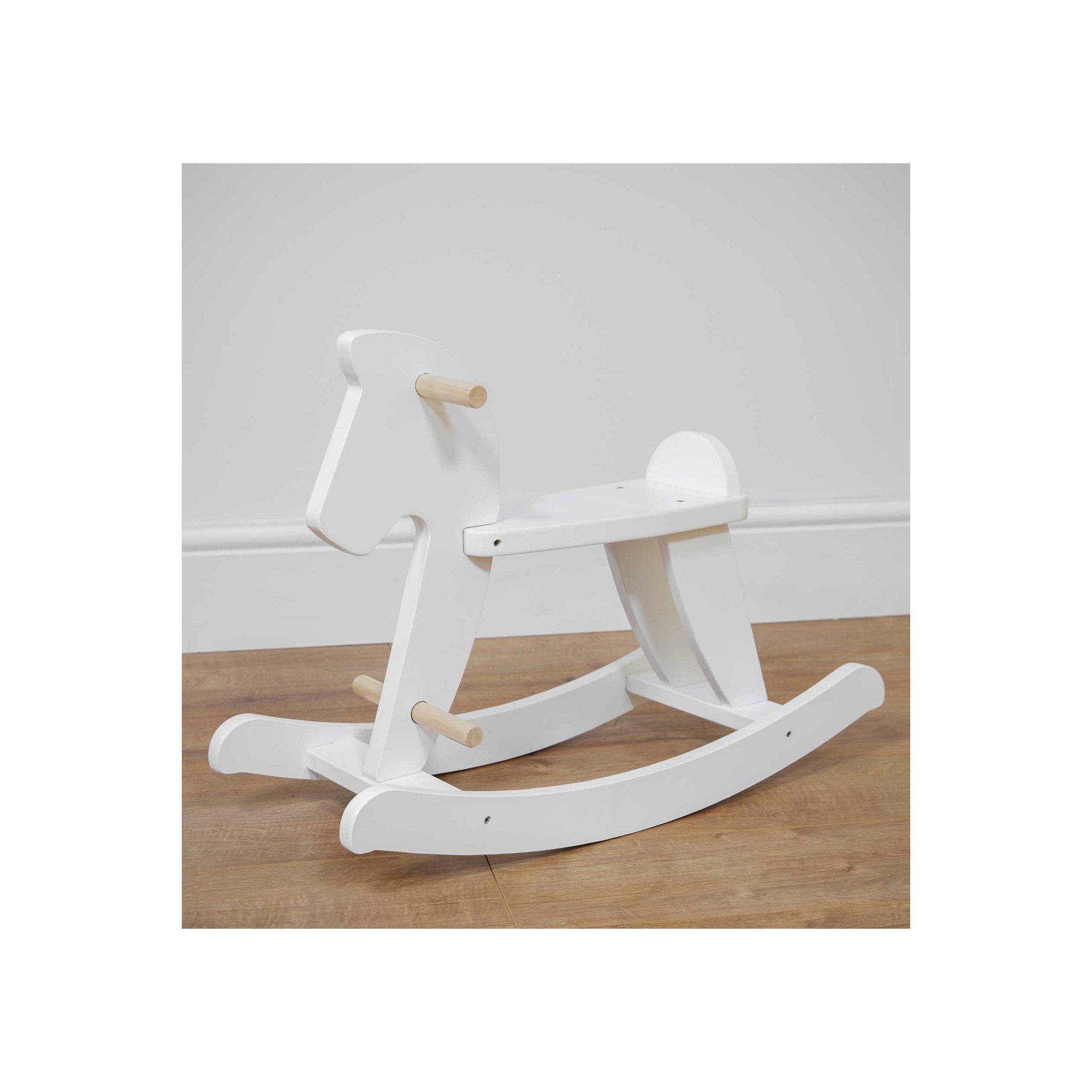 Image of Bambino White Wooden Rocking Horse
