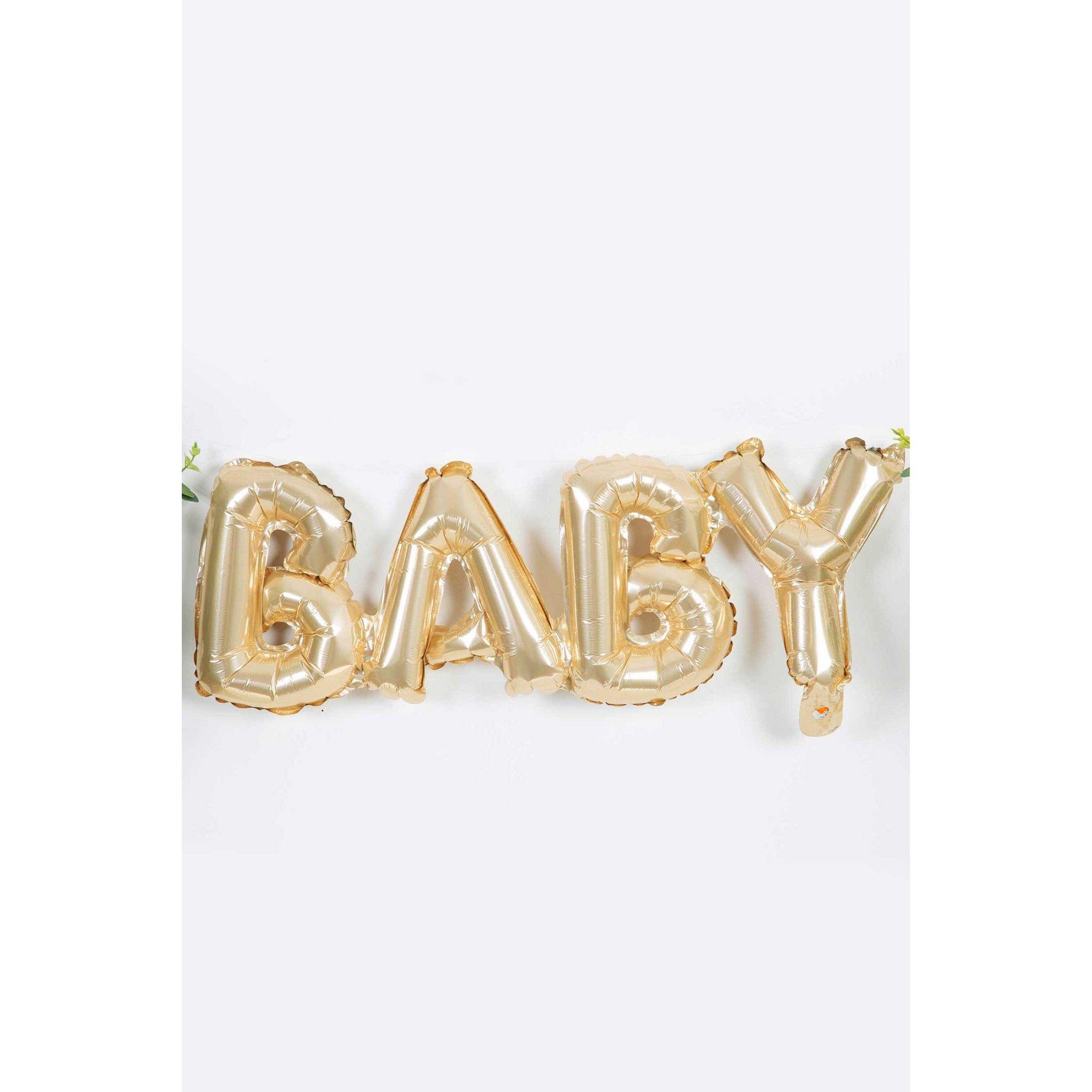 Image of Bambino Baby Shower Gold Balloon - Baby