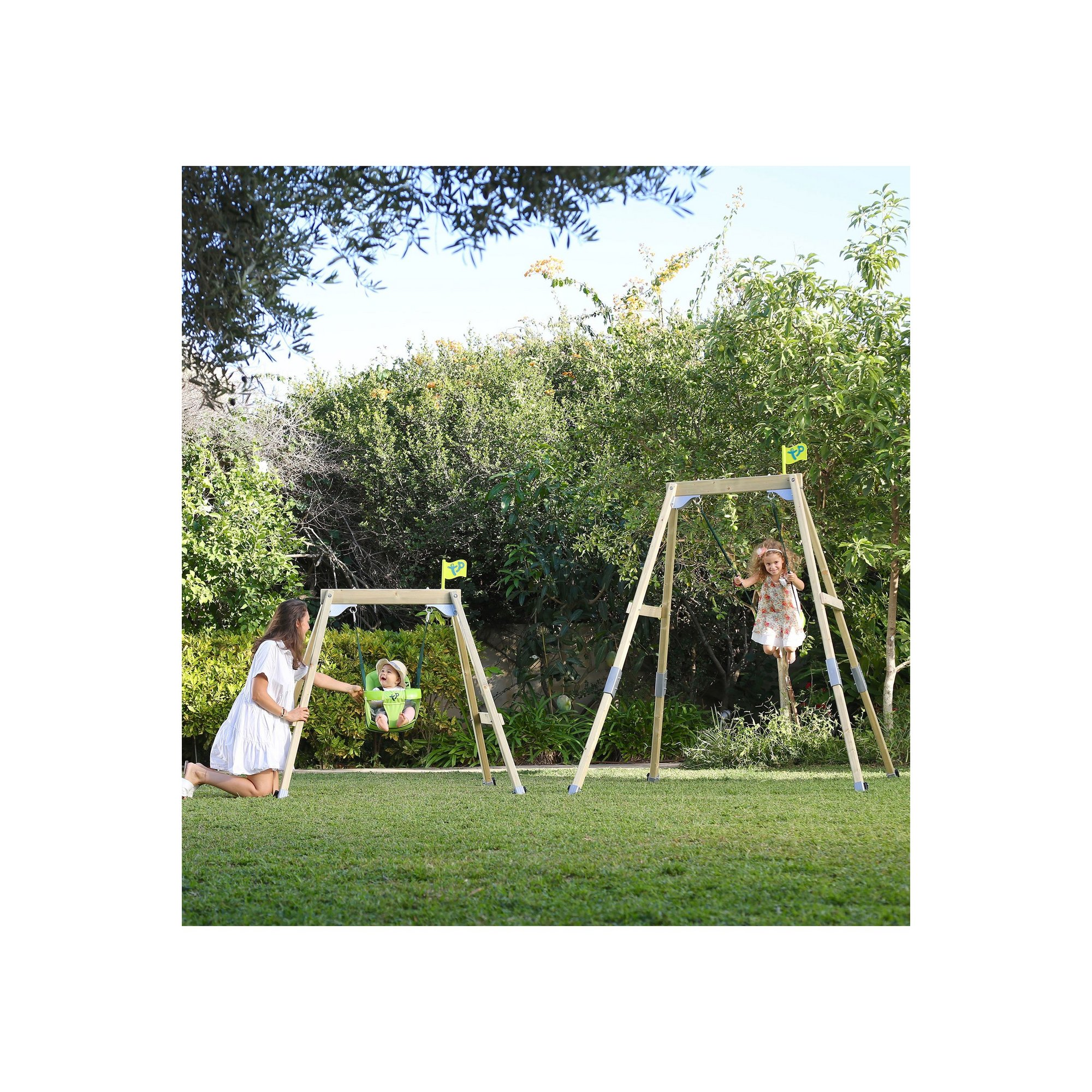 Image of TP Toys Acorn Small To Tall Swing Set with 2 Seats
