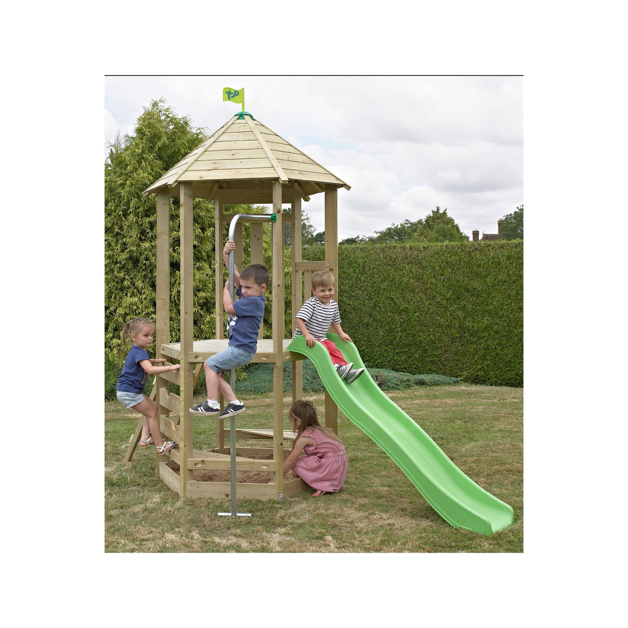 Image of TP Toys Castlewood Dover Wooden Climbing Frame