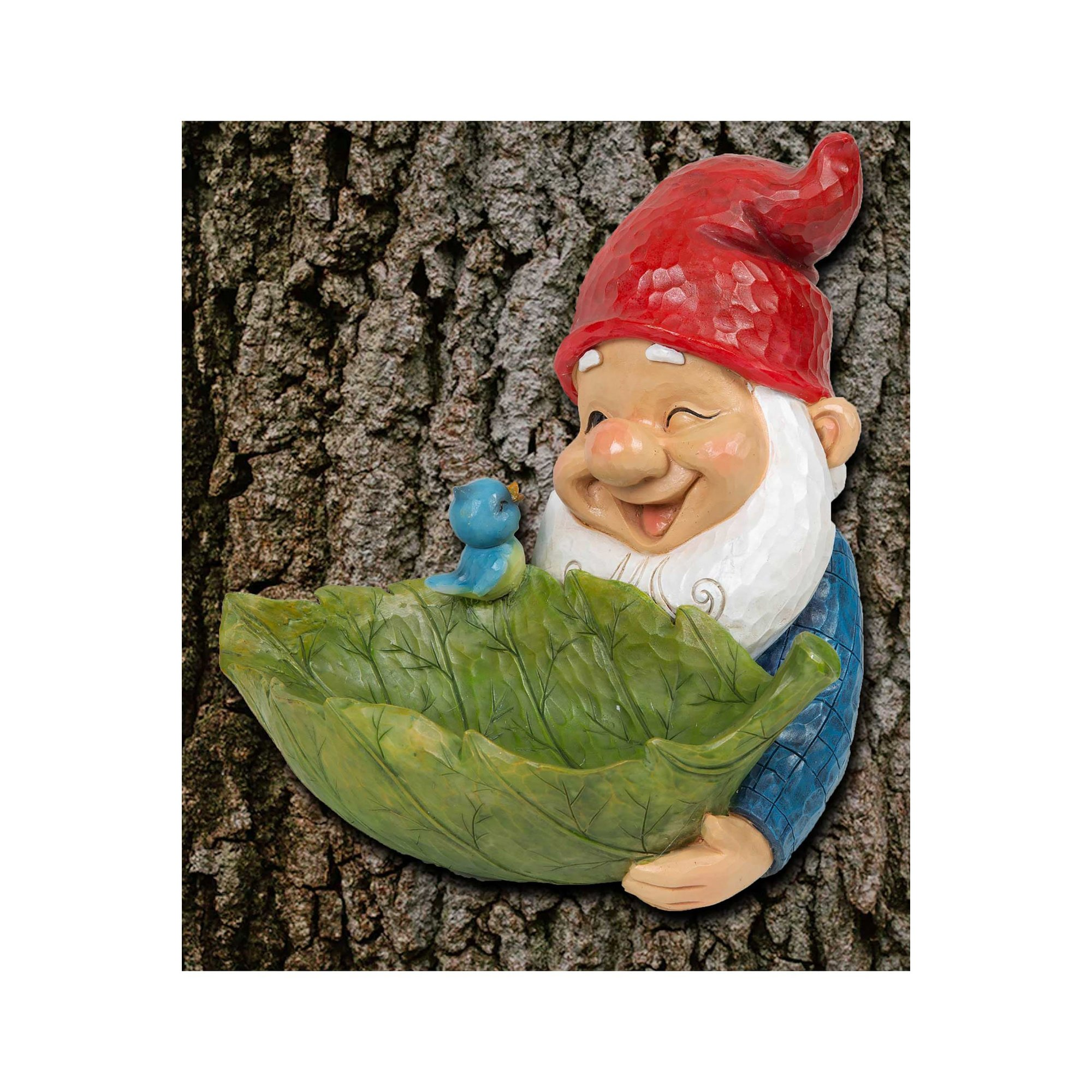 Image of Hand Painted Garden Gnome Bird Feeder