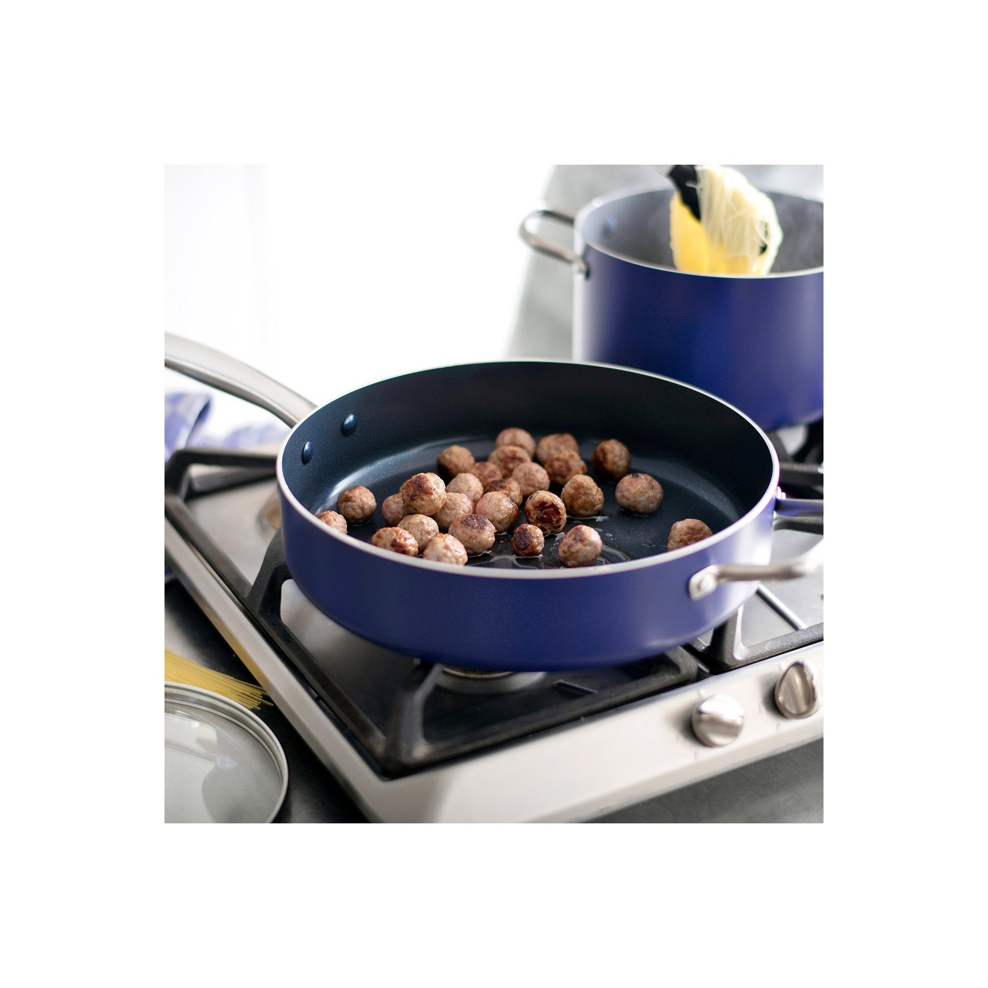 Image of Blue Diamond Non Stick 28cm Saute Pan
