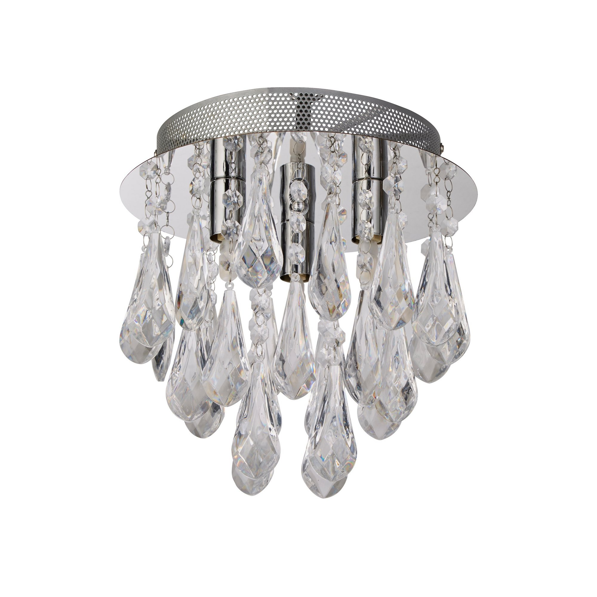 Image of 3 Light Acrylic Droplet Ceiling Light