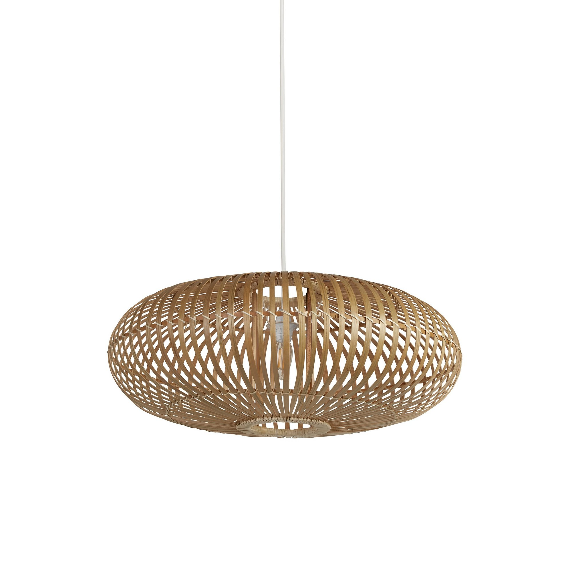 Image of Bamboo Curved Easy Fit Light Shade