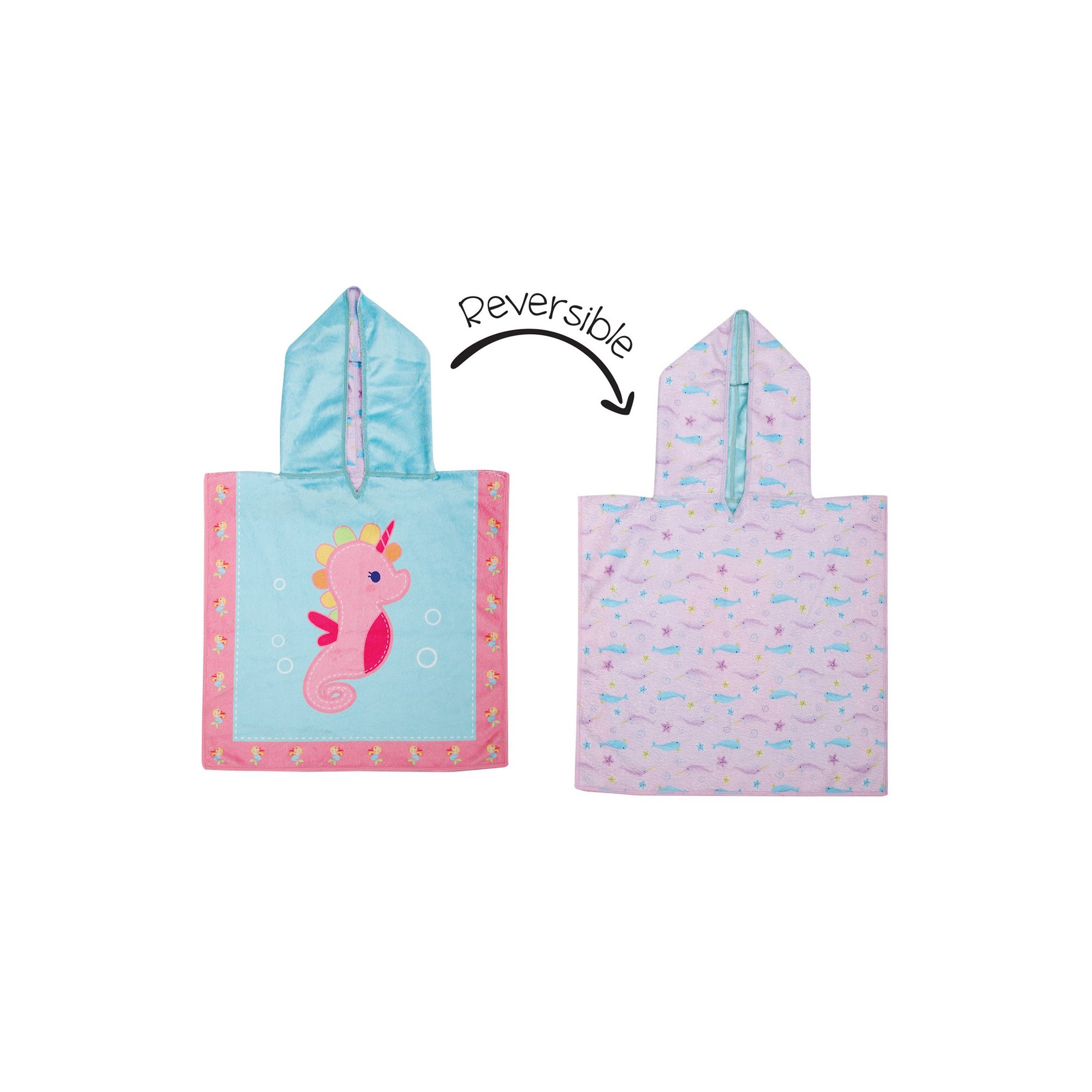 Image of FlapJackKids Baby Cover Up - Seahorse/Narwhal