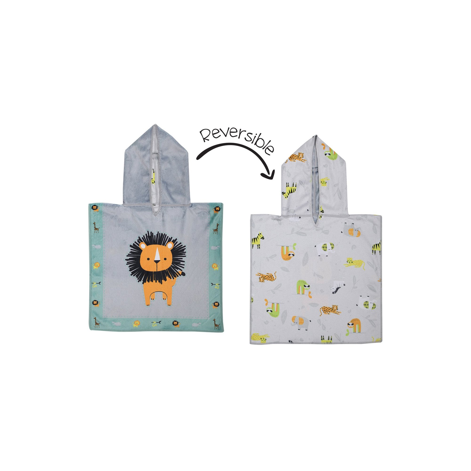 Image of FlapJackKids Baby Cover Up - Lion/Zoo