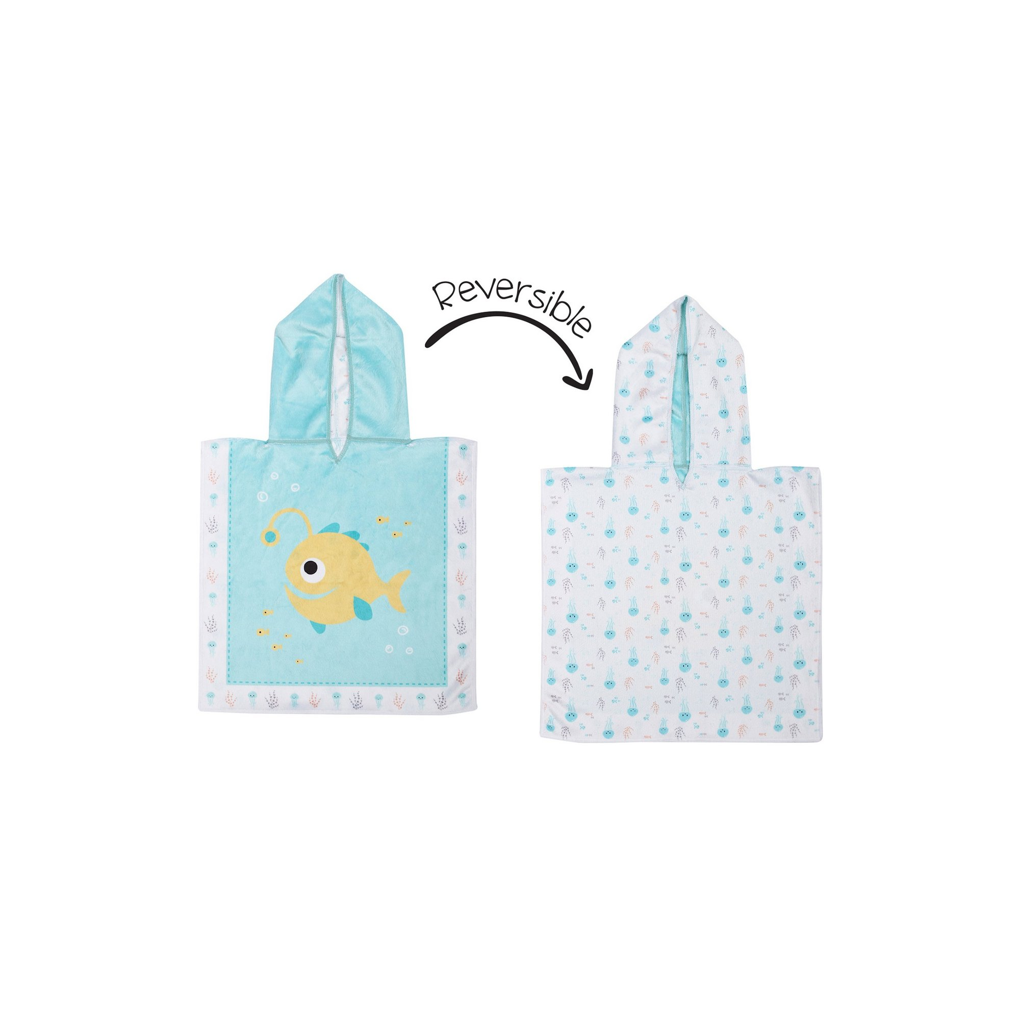 Image of FlapJackKids Baby Cover Up - Fish/Jellyfish