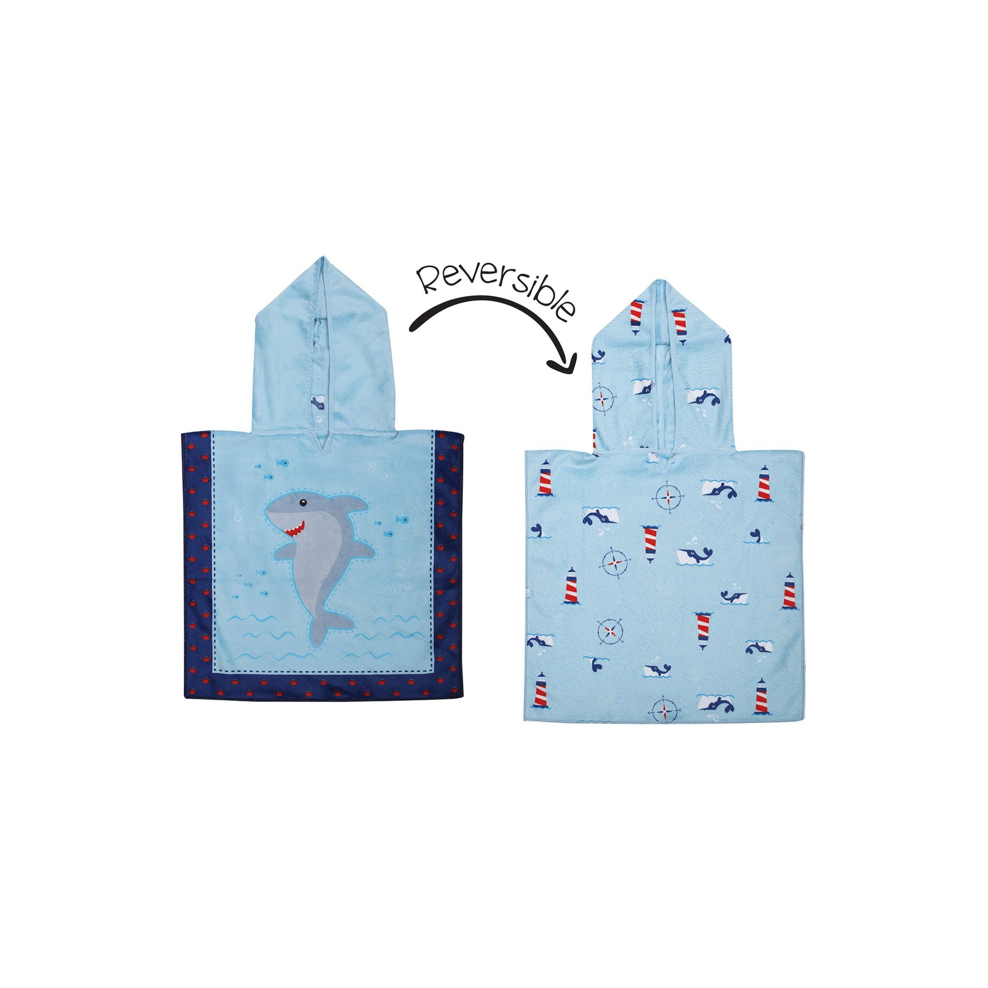 Image of FlapJackKids Baby Cover Up - Shark/Crab/Nautical