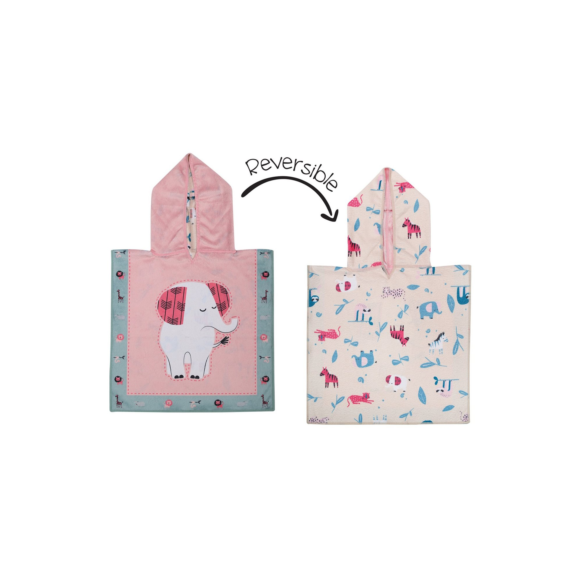 Image of FlapJackKids Baby Cover Up - Elephant/Zoo