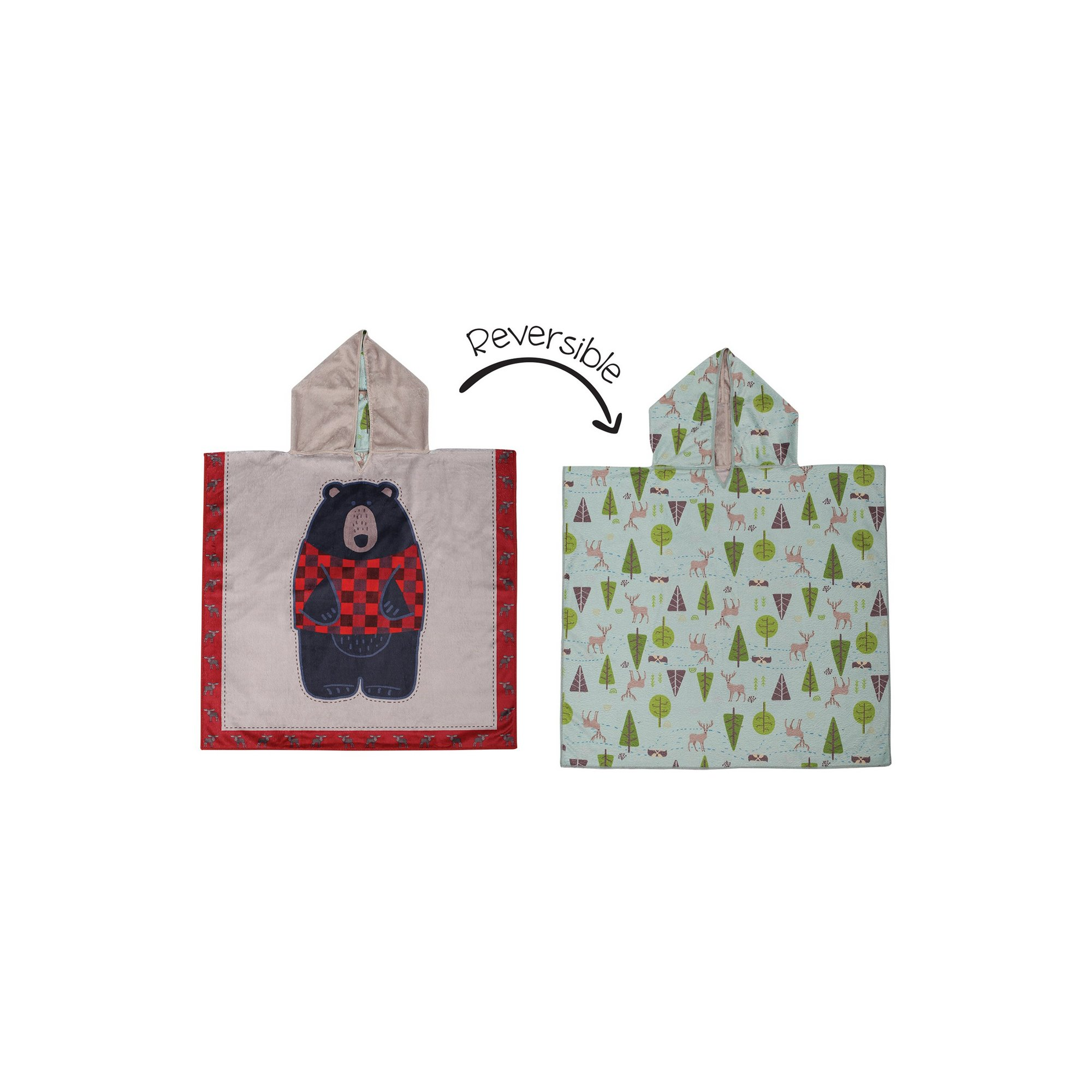 Image of FlapJackKids Cover Up - Black Bear/Cottage