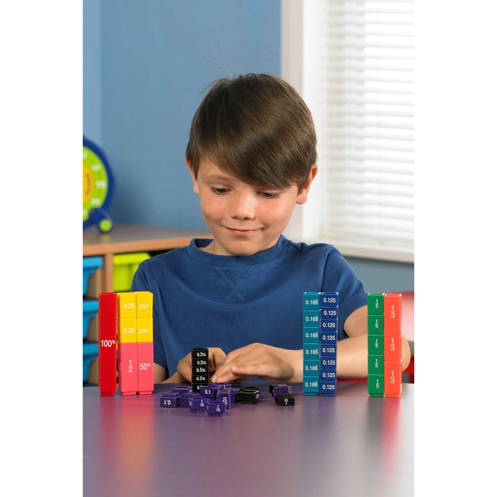 Image of Learning Resources Fraction Tower Equivalency Cubes