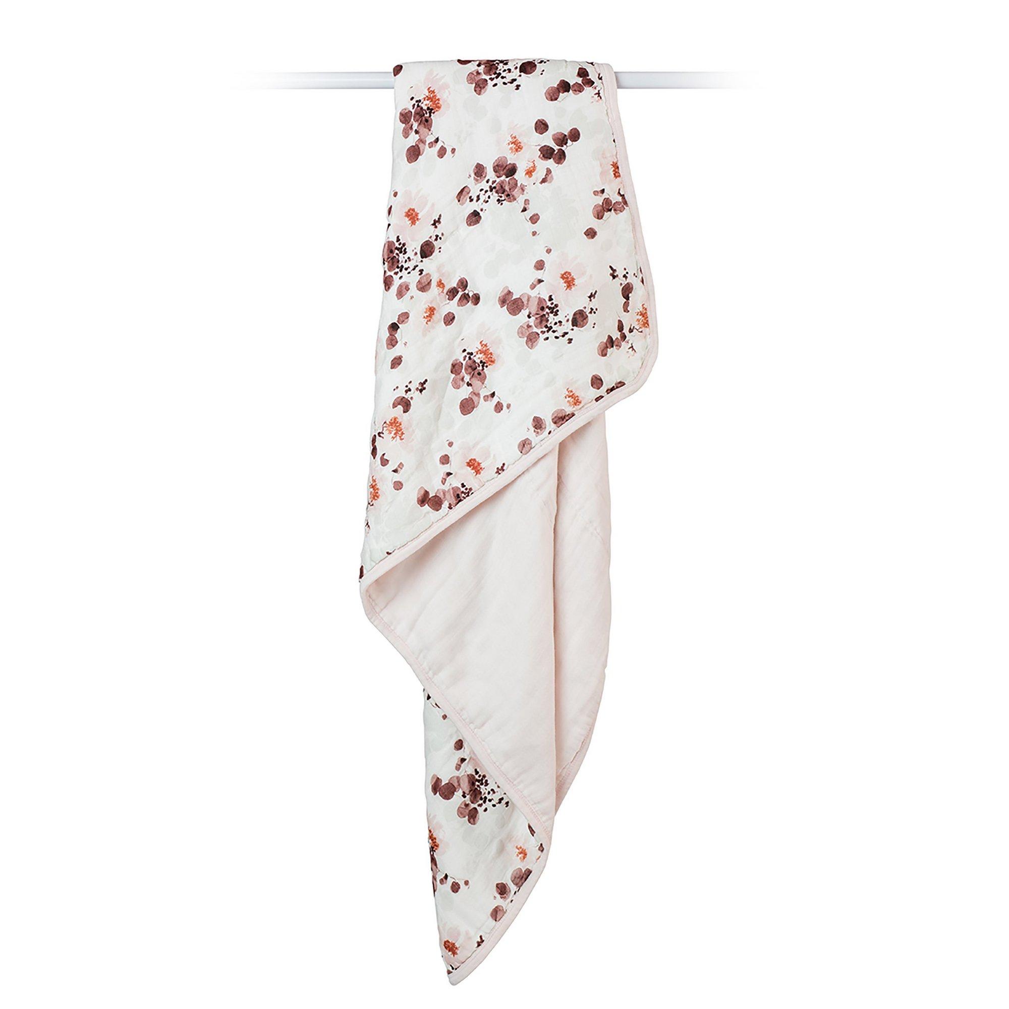 Image of Lulujo Bamboo Crib Blanket - Ecualyptus