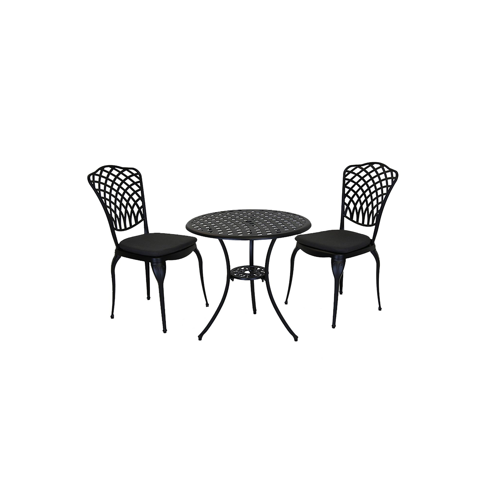 Image of Charles Bentley Cast Aluminium Bistro Table and Chairs Set
