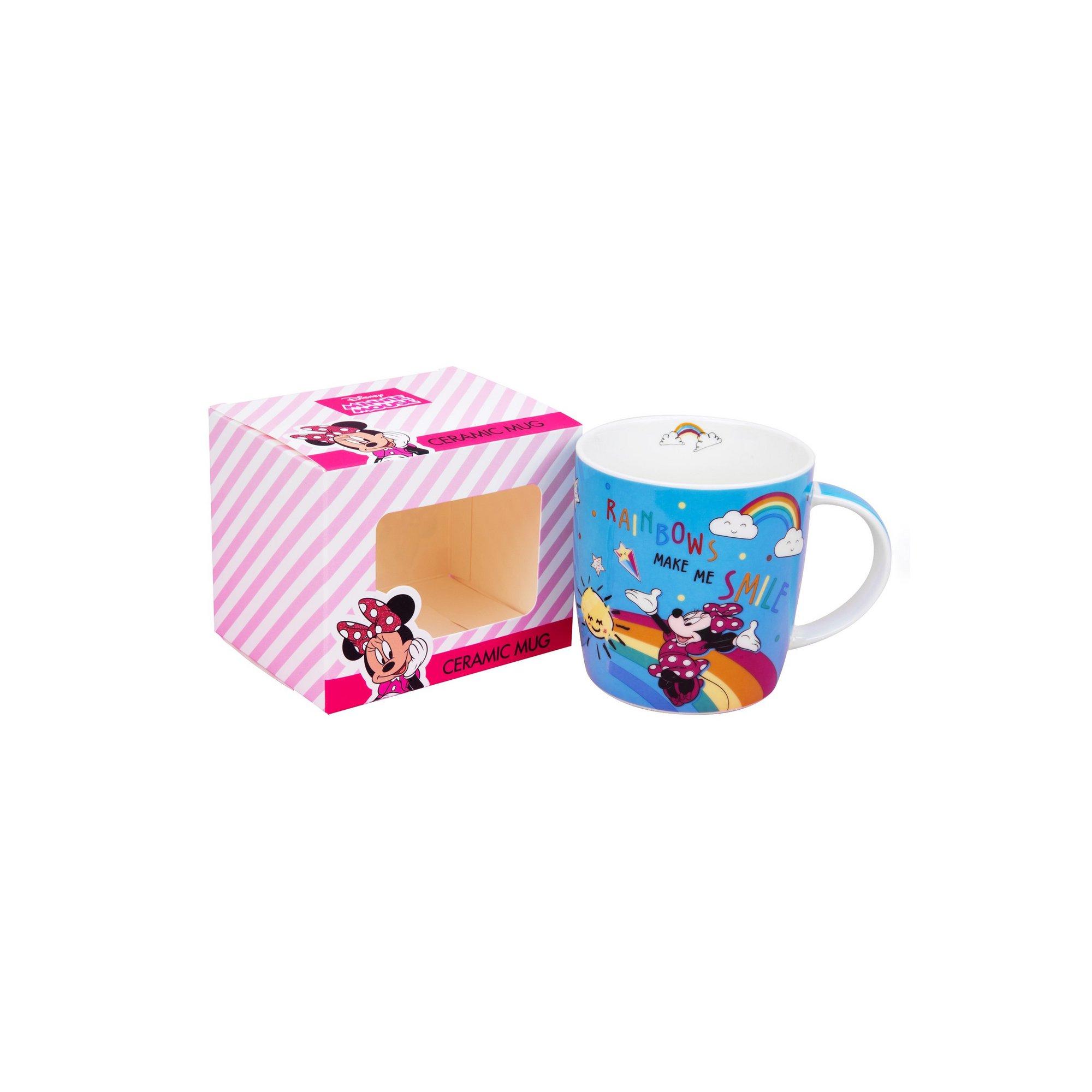 Image of Disney Minnie Mouse Blue Rainbow Mug - Make Me Smile