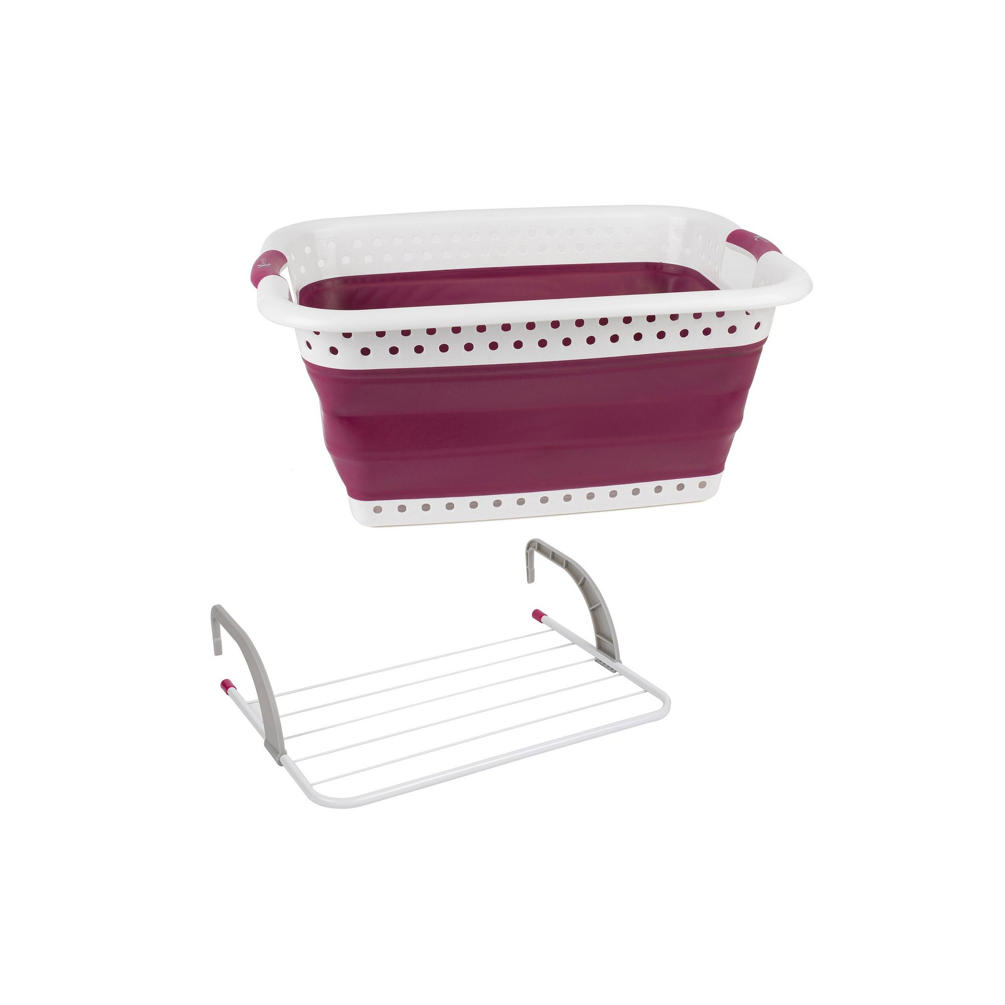 Image of Kleeneze Collapsible Laundry Basket and Radiator Airer