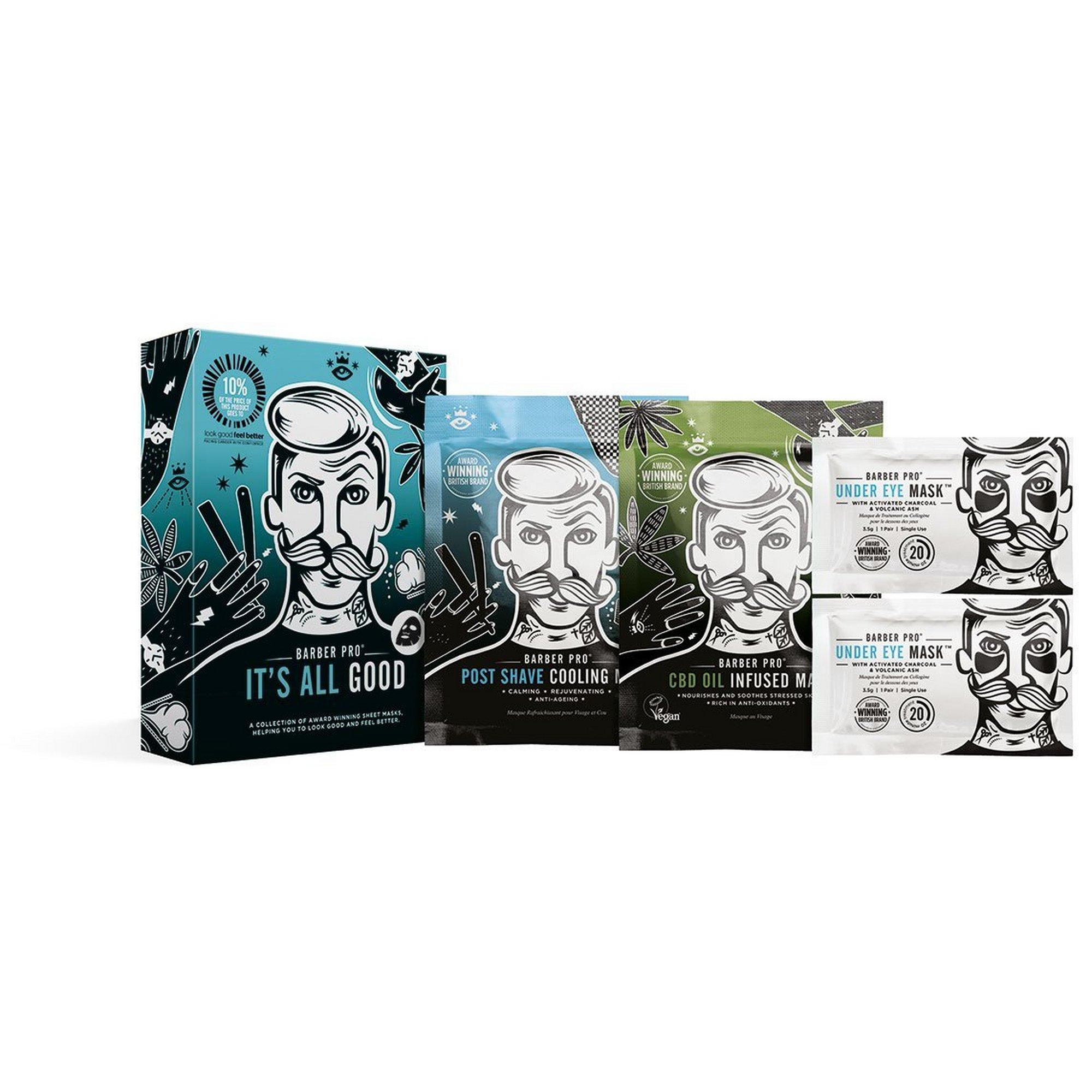 Image of Barber Pro Its all good Mens Face Mask Set