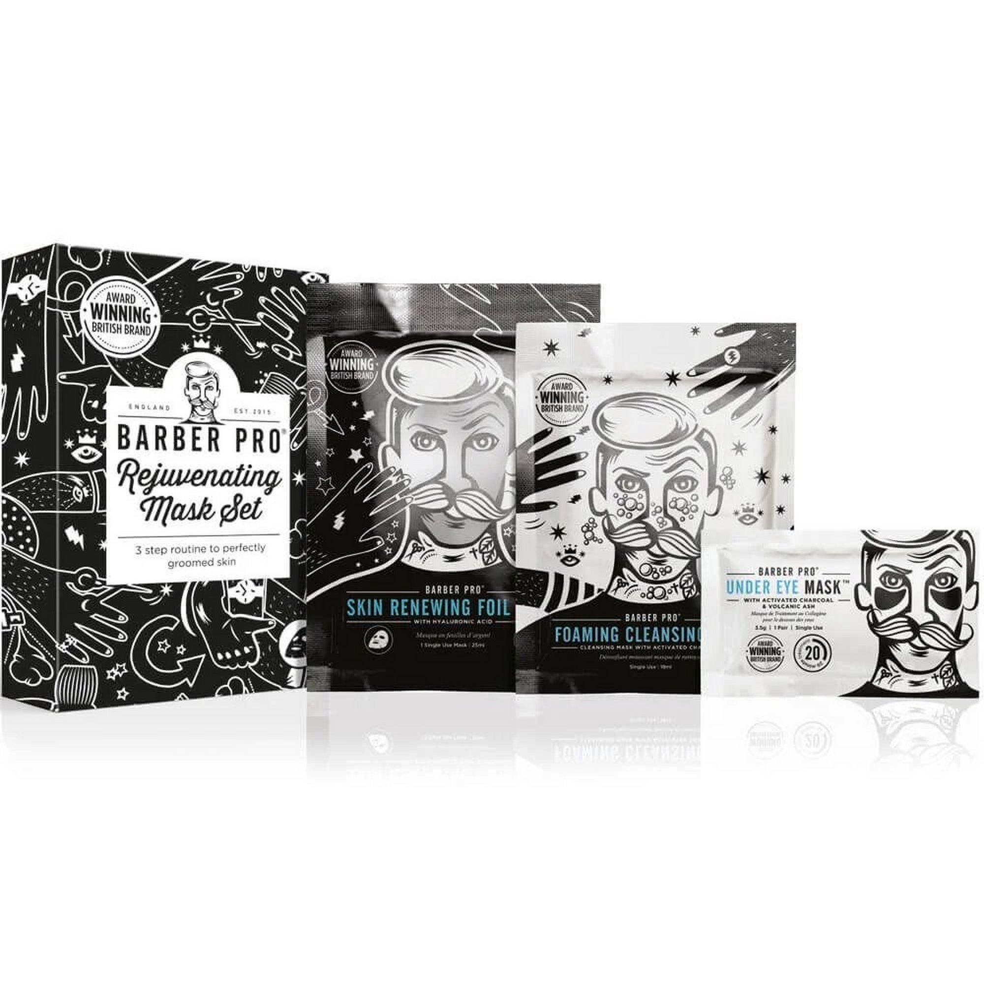 Image of Barber Pro Rejuvenating Mens Face Mask Set