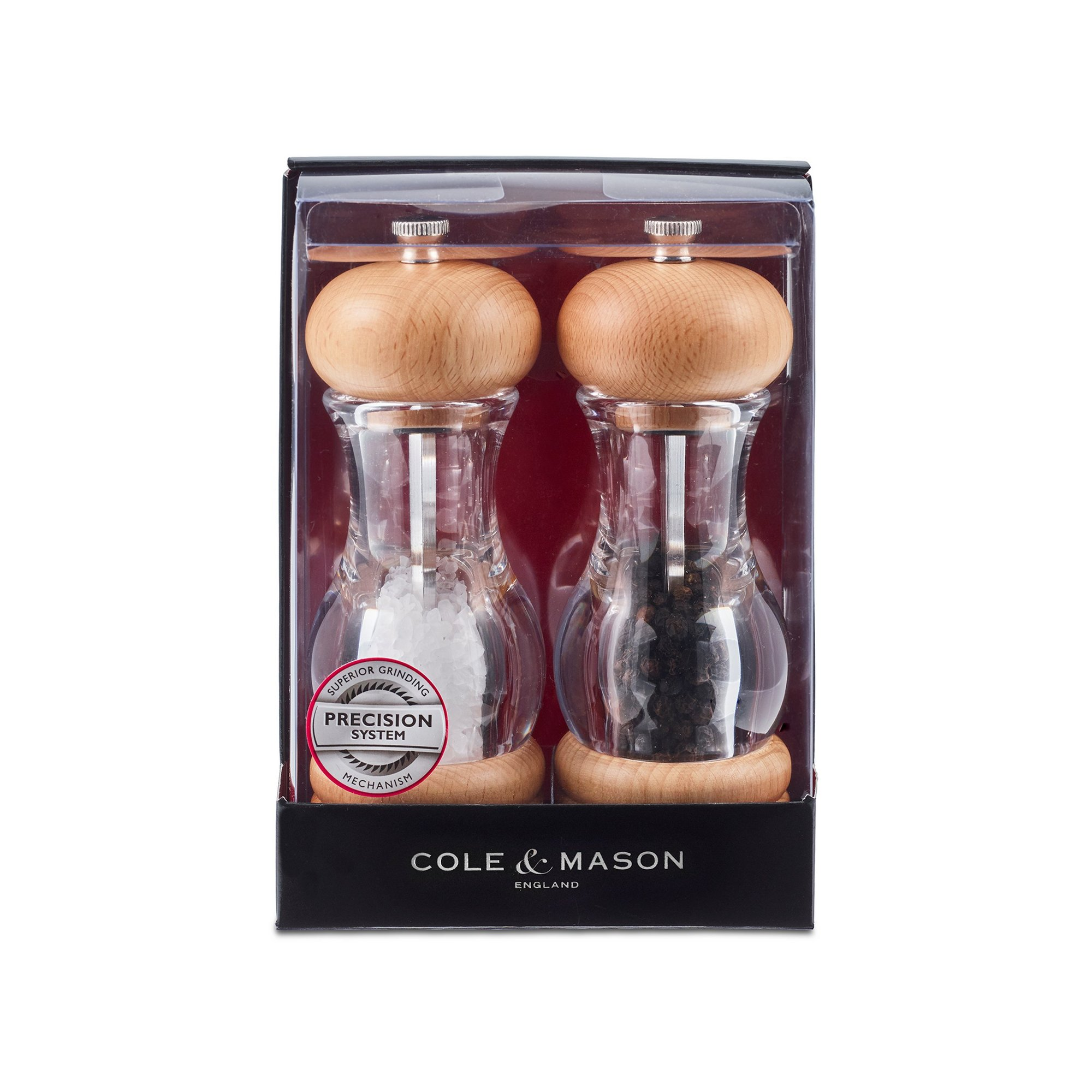 Image of Cole and Mason Beech Precision Salt and Pepper Mill