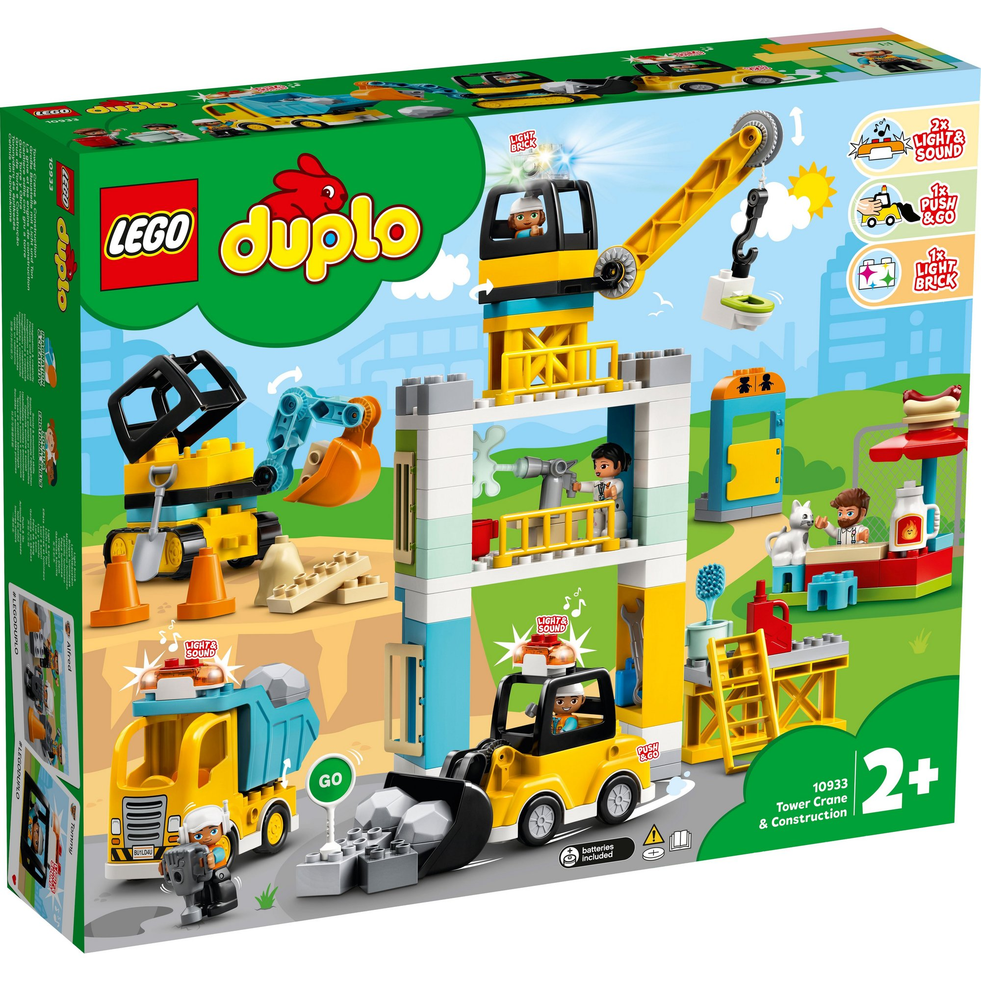 Image of LEGO DUPLO Town Tower Crane and Construction