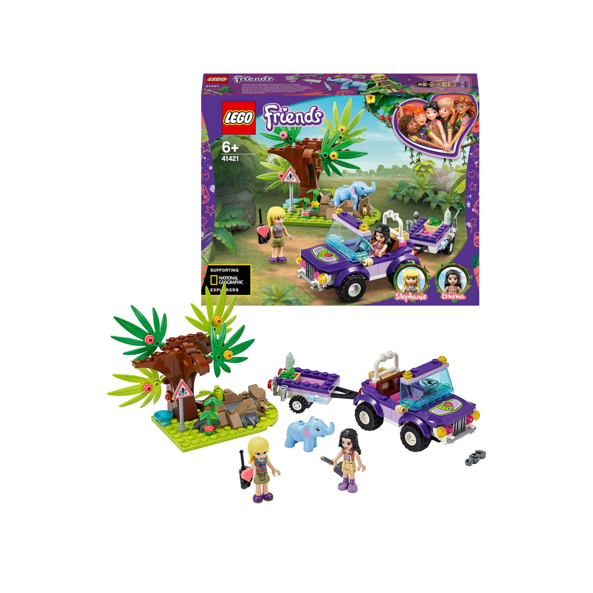 Image of LEGO Friends Baby Elephant Jungle Rescue
