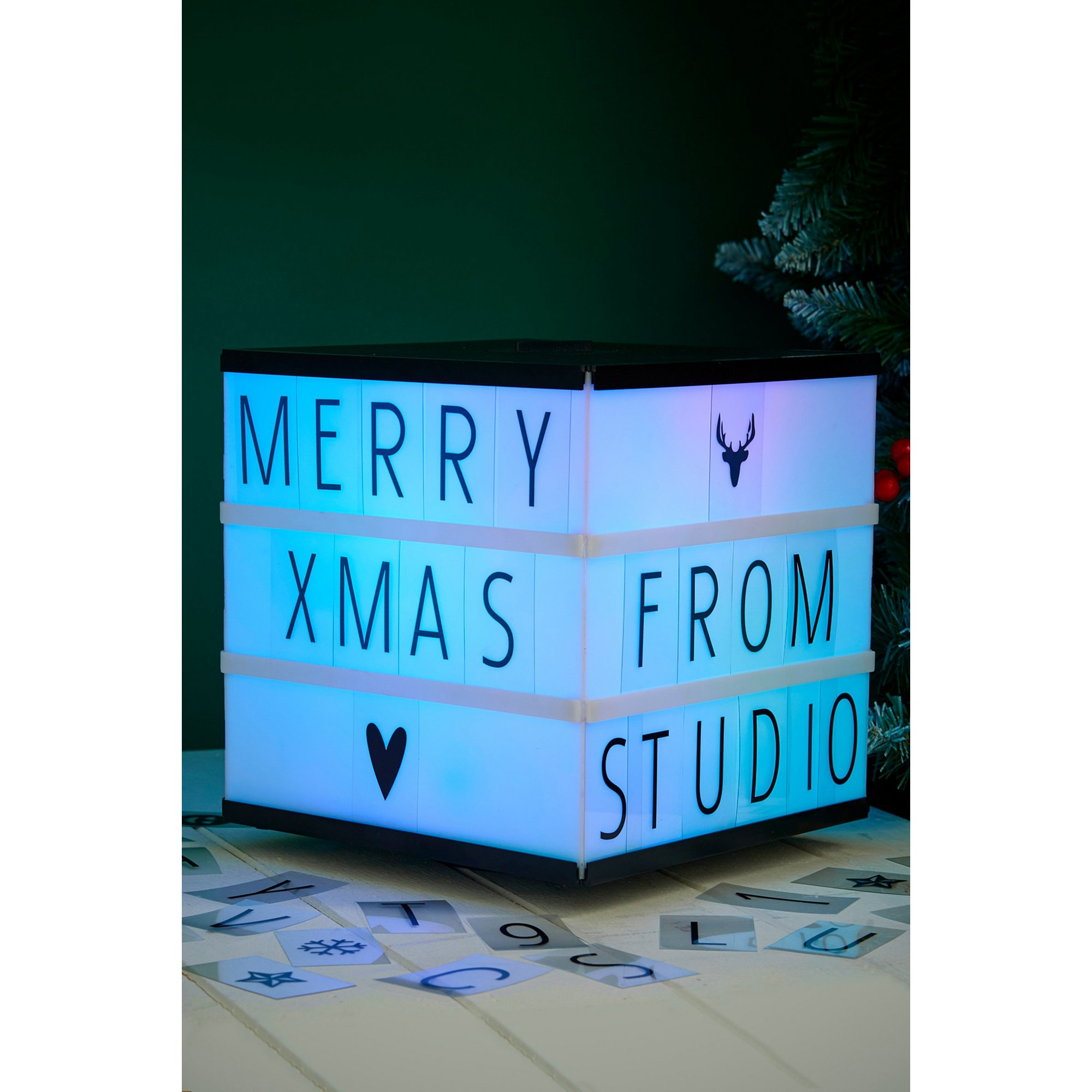 Image of 3D Colour Changing Message Box