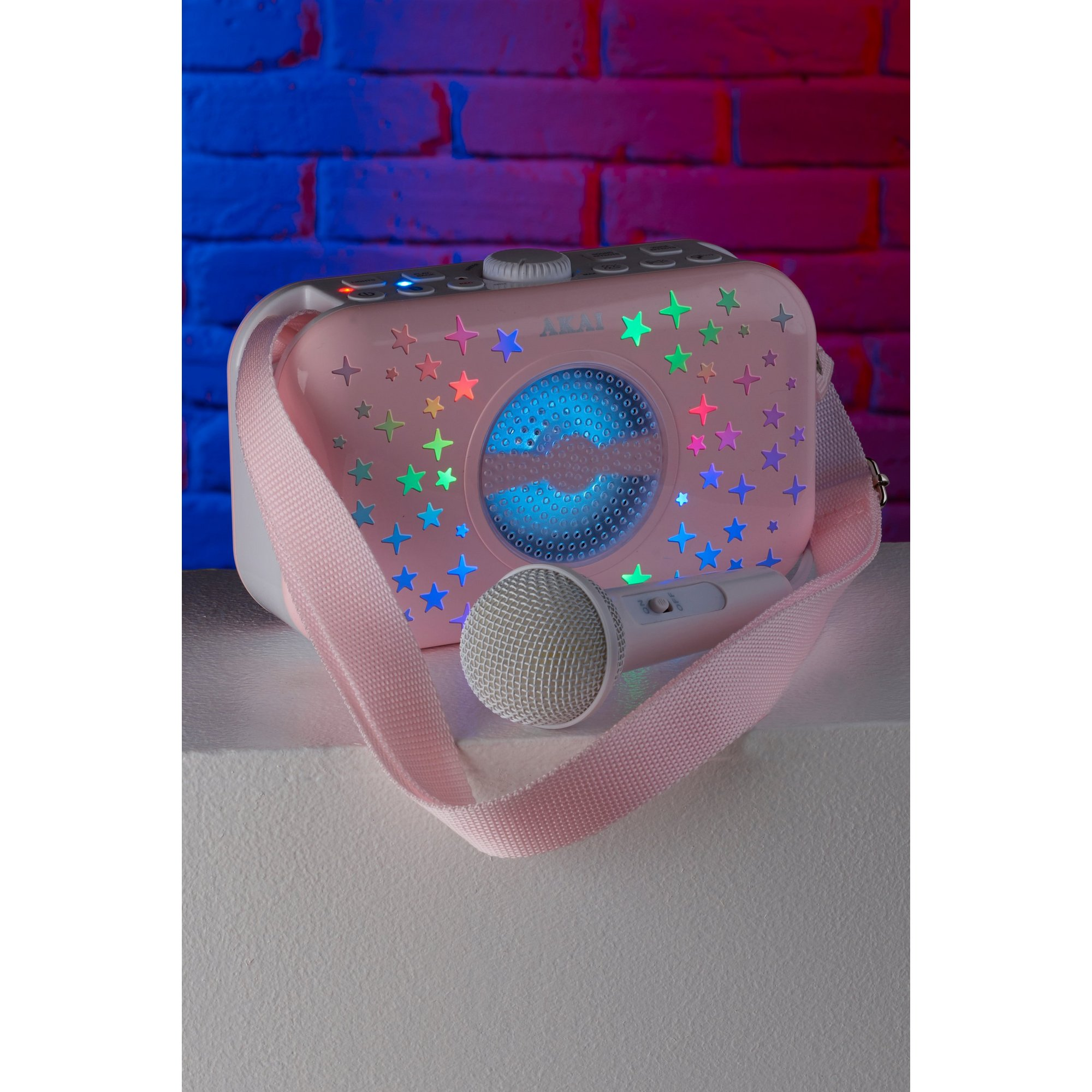 Image of AKAI LED Handbag Bluetooth Karaoke Speaker