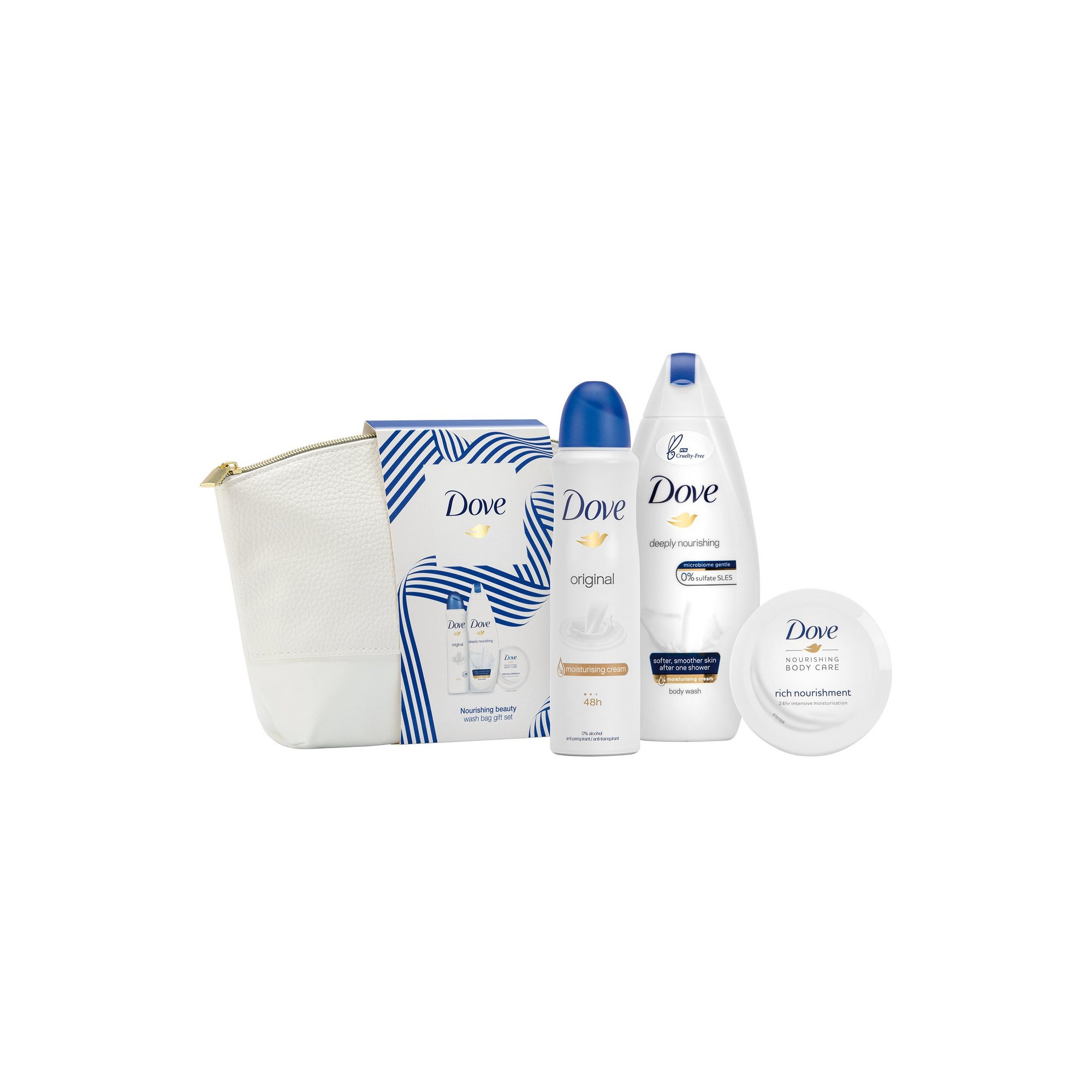 Image of Dove Nourishing Beauty Washbag Gift Set